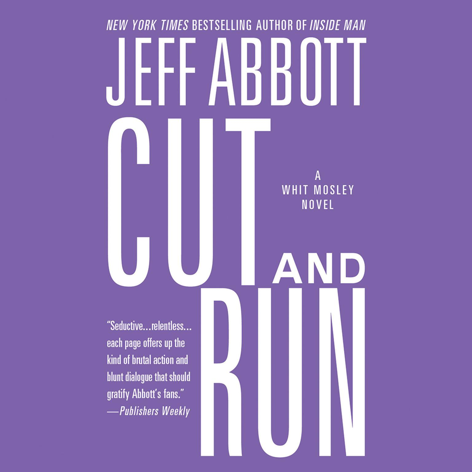 Printable Cut and Run Audiobook Cover Art