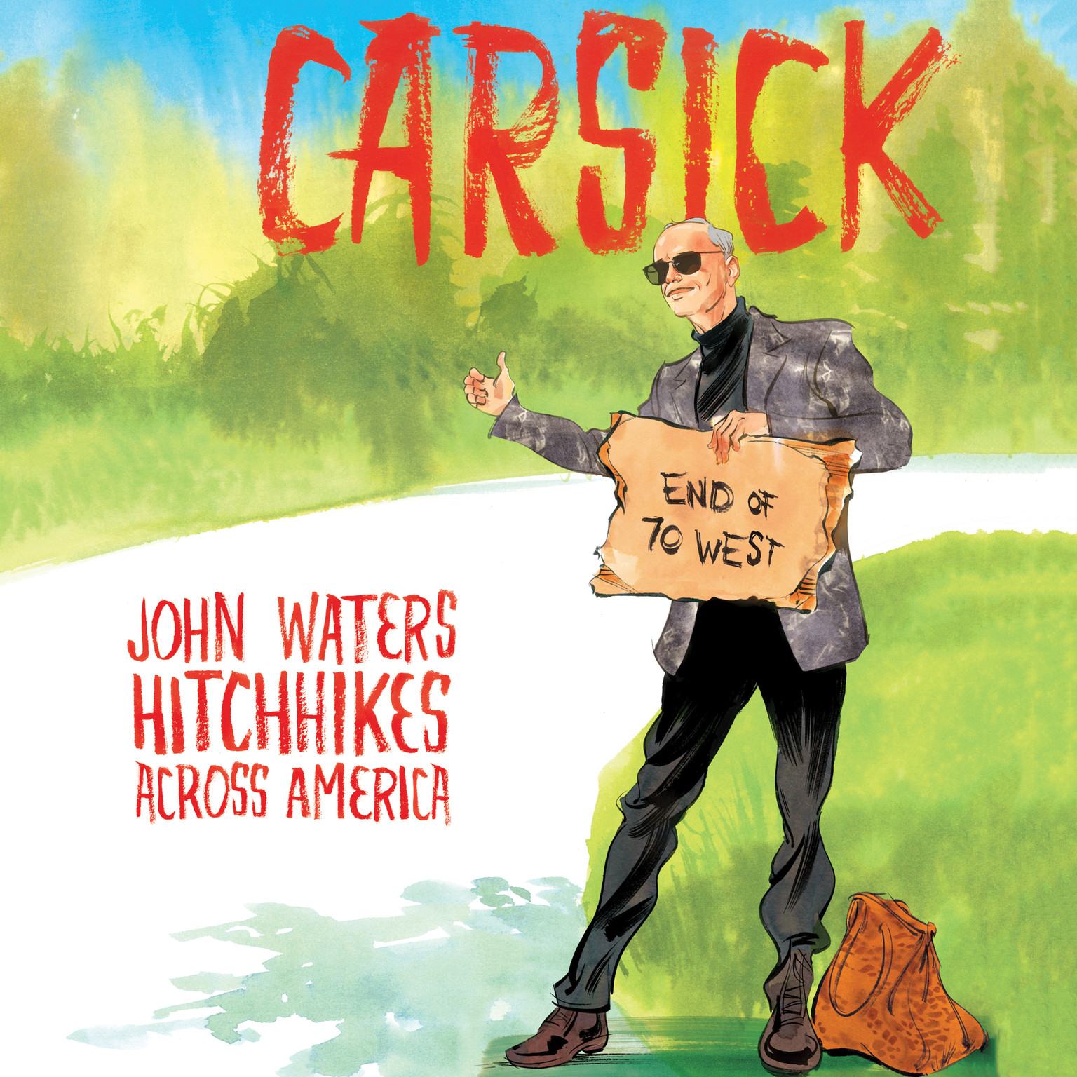 Printable Carsick: John Waters Hitchhikes Across America Audiobook Cover Art