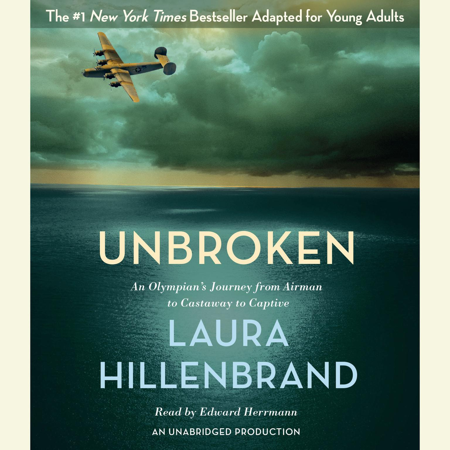 Printable Unbroken (The Young Adult Adaptation): An Olympian's Journey from Airman to Castaway to Captive Audiobook Cover Art