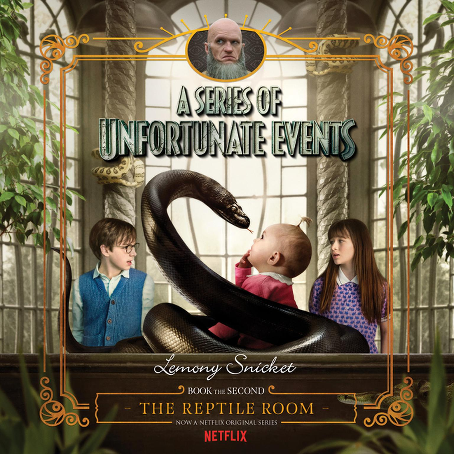 Printable A Series of Unfortunate Events #2: The Reptile Room Audiobook Cover Art
