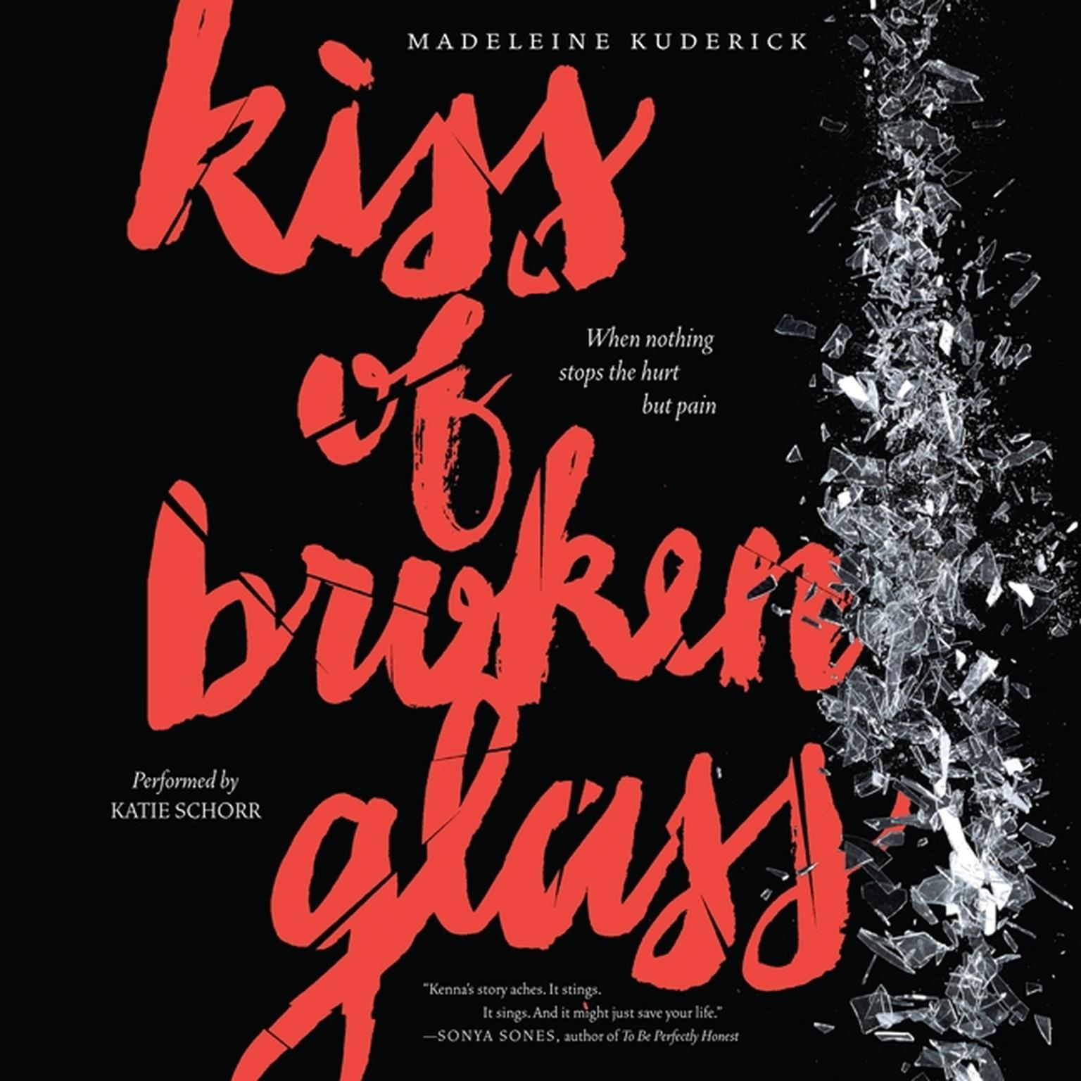 Printable Kiss of Broken Glass Audiobook Cover Art