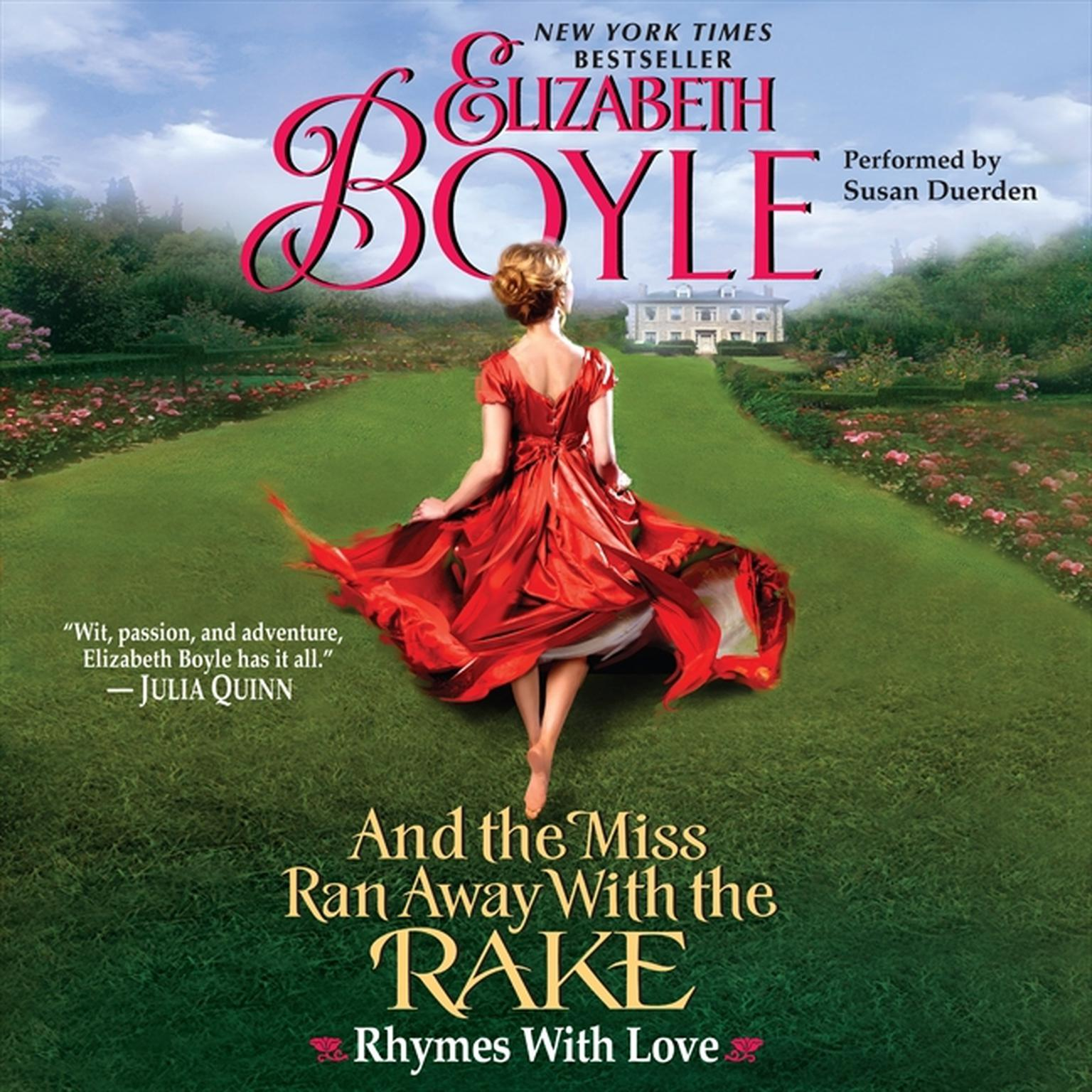 Printable And the Miss Ran Away with the Rake: Rhymes With Love Audiobook Cover Art