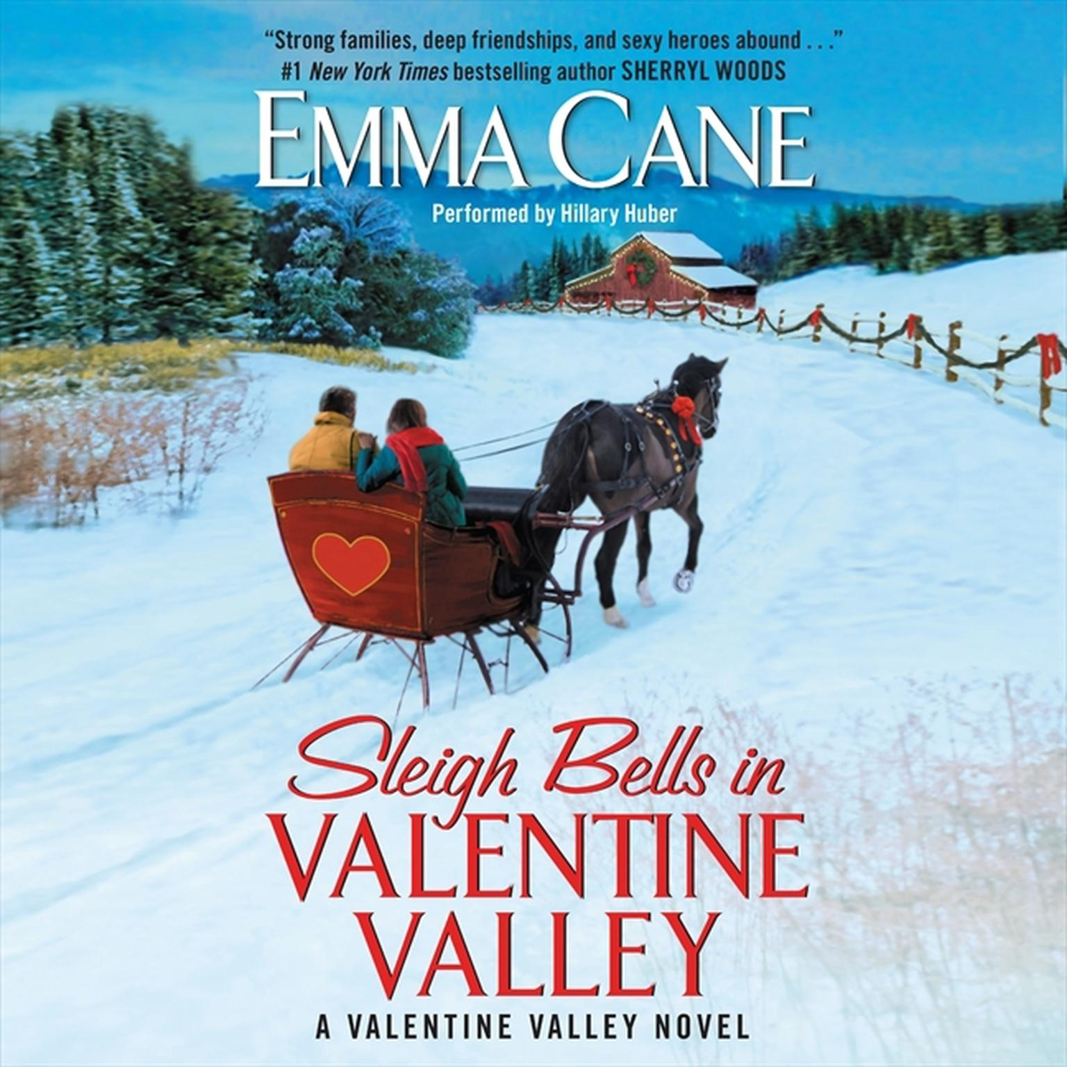 Printable Sleigh Bells in Valentine Valley: A Valentine Valley Novel Audiobook Cover Art