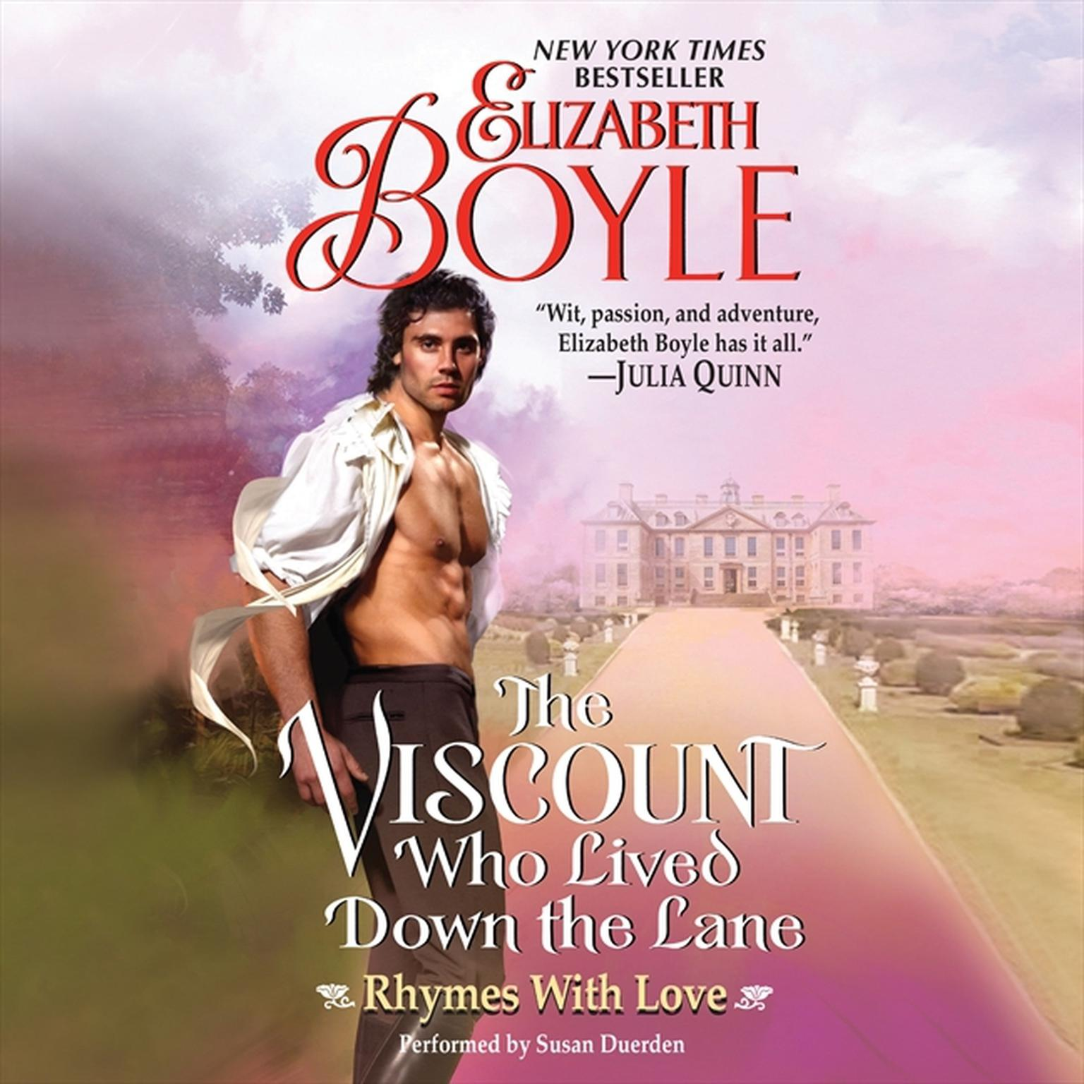 Printable The Viscount Who Lived Down the Lane: Rhymes With Love Audiobook Cover Art