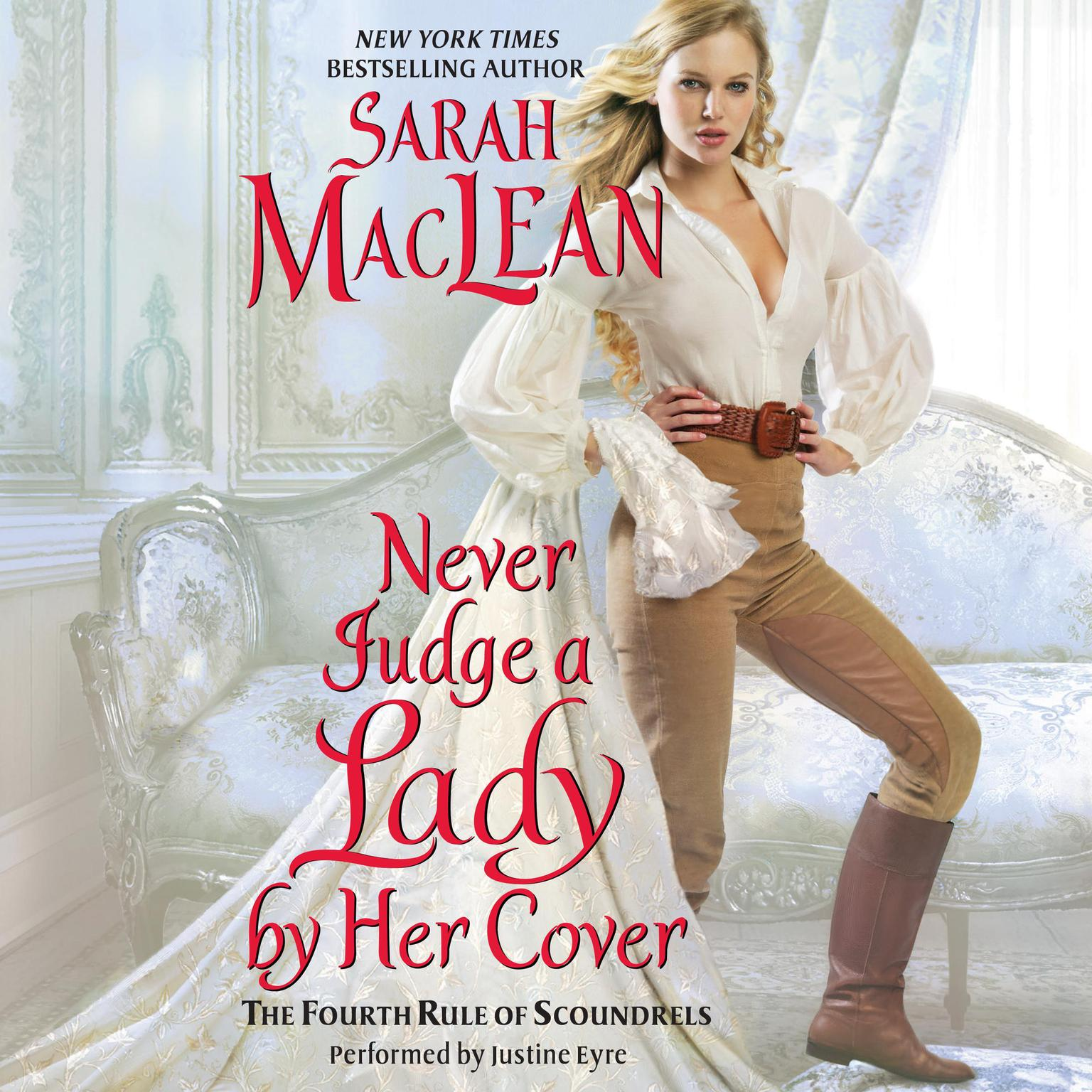 Printable Never Judge a Lady by Her Cover: The Fourth Rule of Scoundrels Audiobook Cover Art