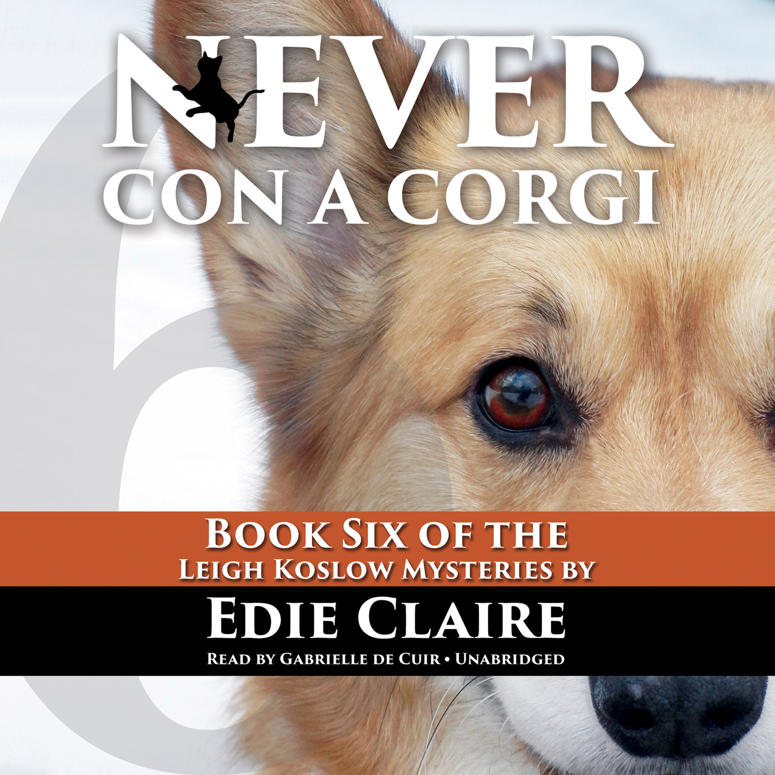 Printable Never Con a Corgi Audiobook Cover Art