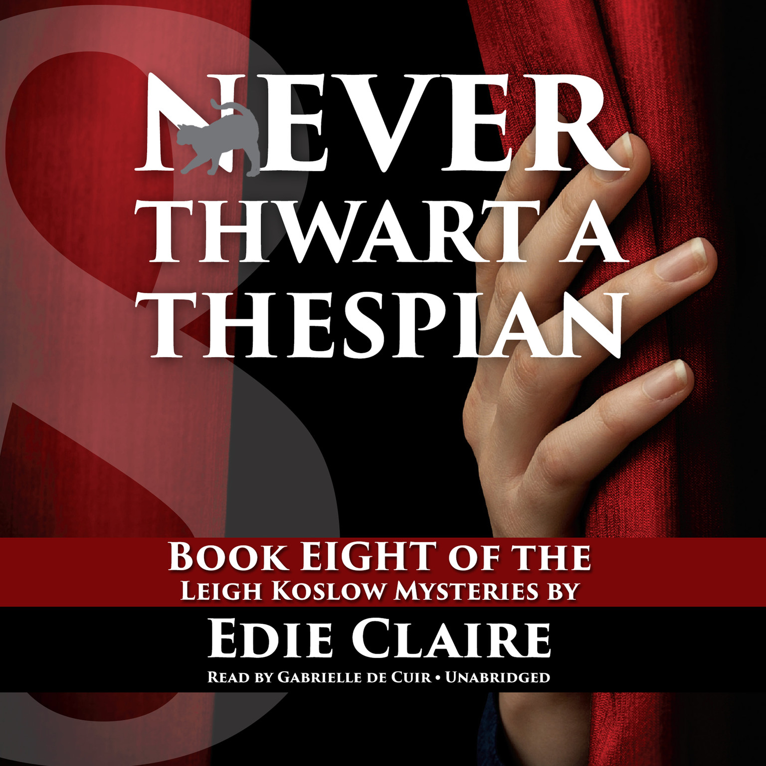 Printable Never Thwart a Thespian Audiobook Cover Art