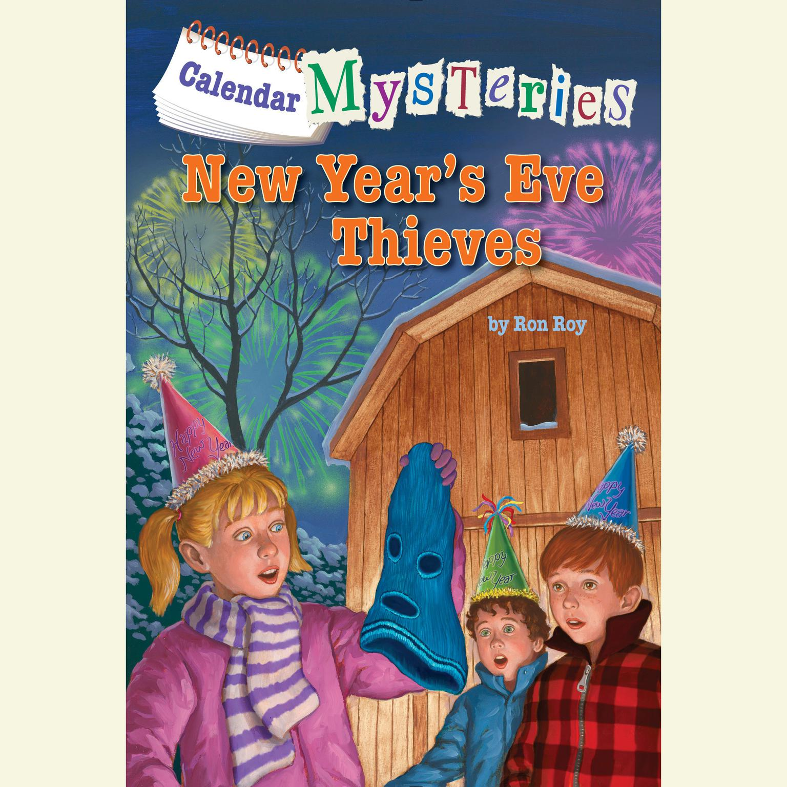 Printable Calendar Mysteries #13: New Year's Eve Thieves Audiobook Cover Art