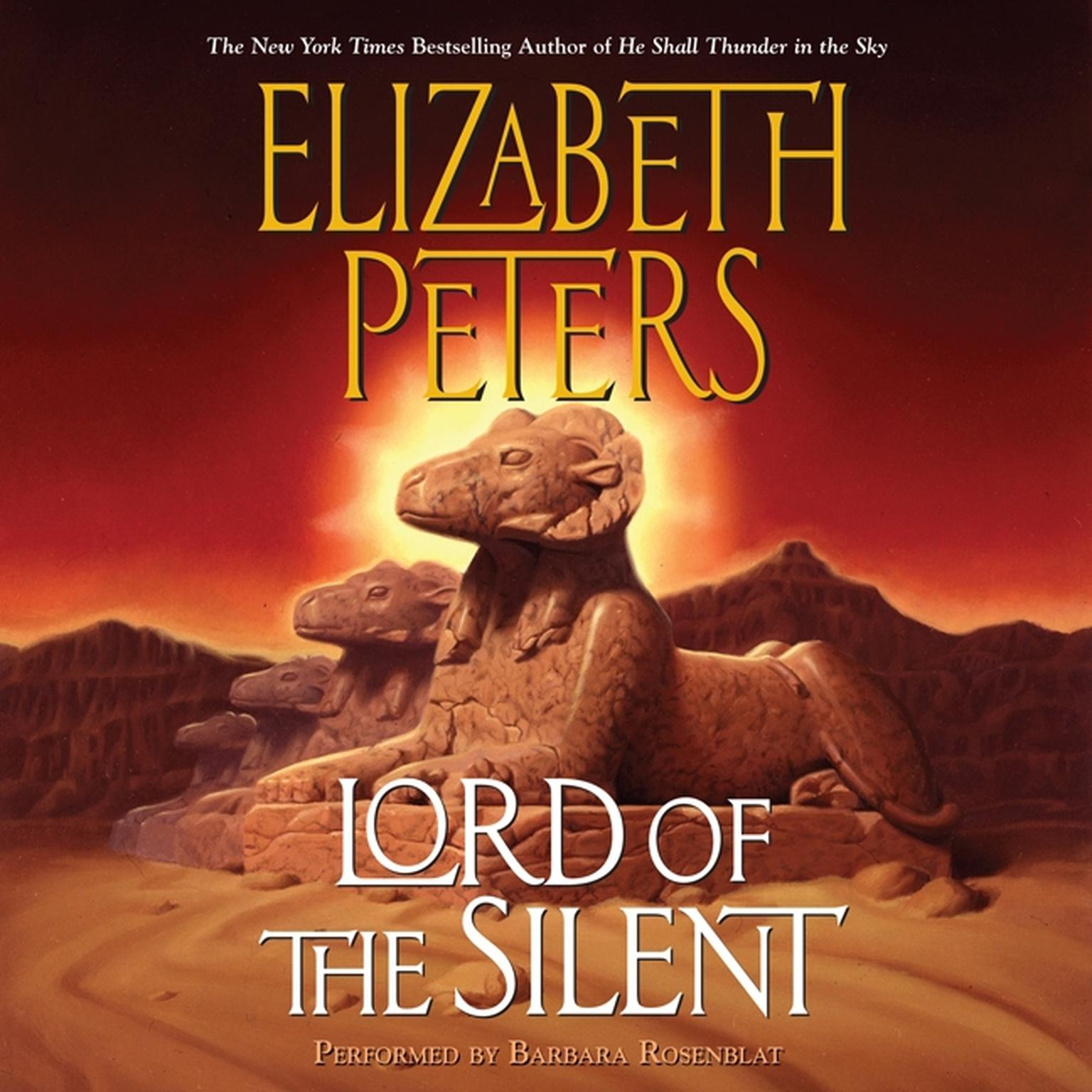 Printable Lord of the Silent: An Amelia Peabody Novel of Suspense Audiobook Cover Art
