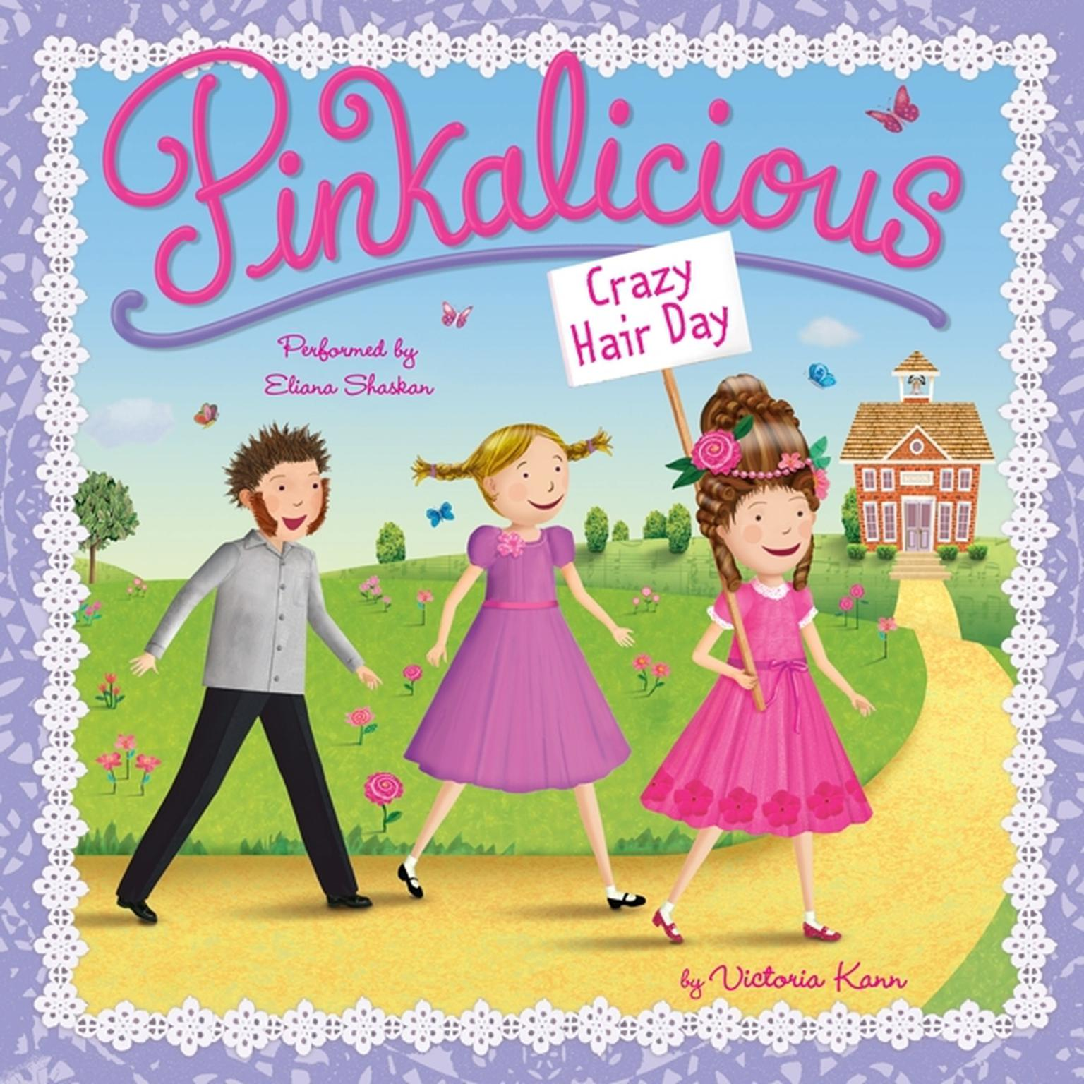 Printable Pinkalicious: Crazy Hair Day Audiobook Cover Art