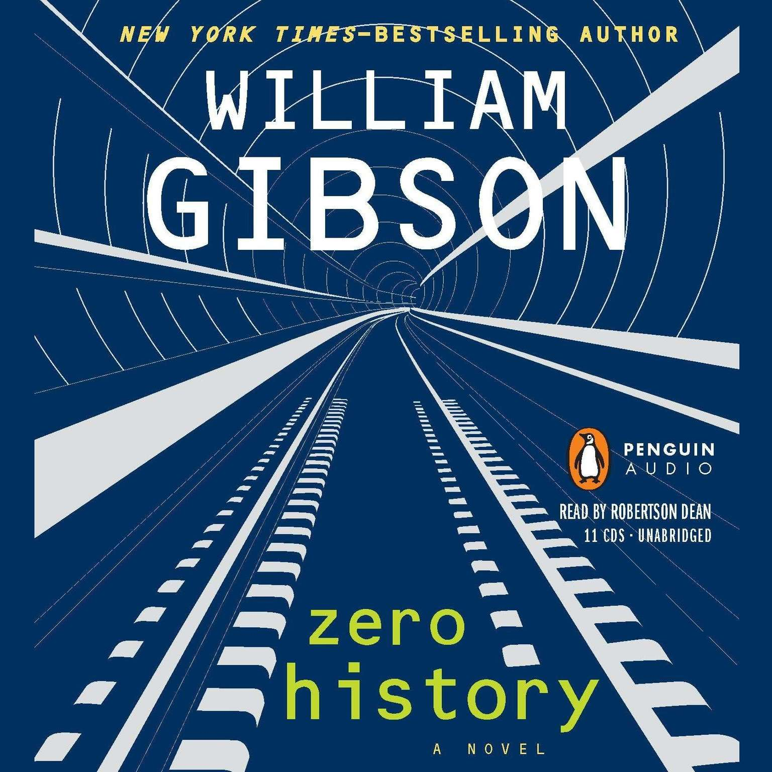 Printable Zero History  Audiobook Cover Art