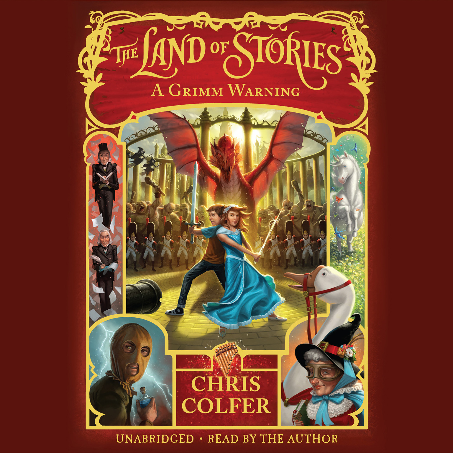 Printable The Land of Stories: A Grimm Warning Audiobook Cover Art