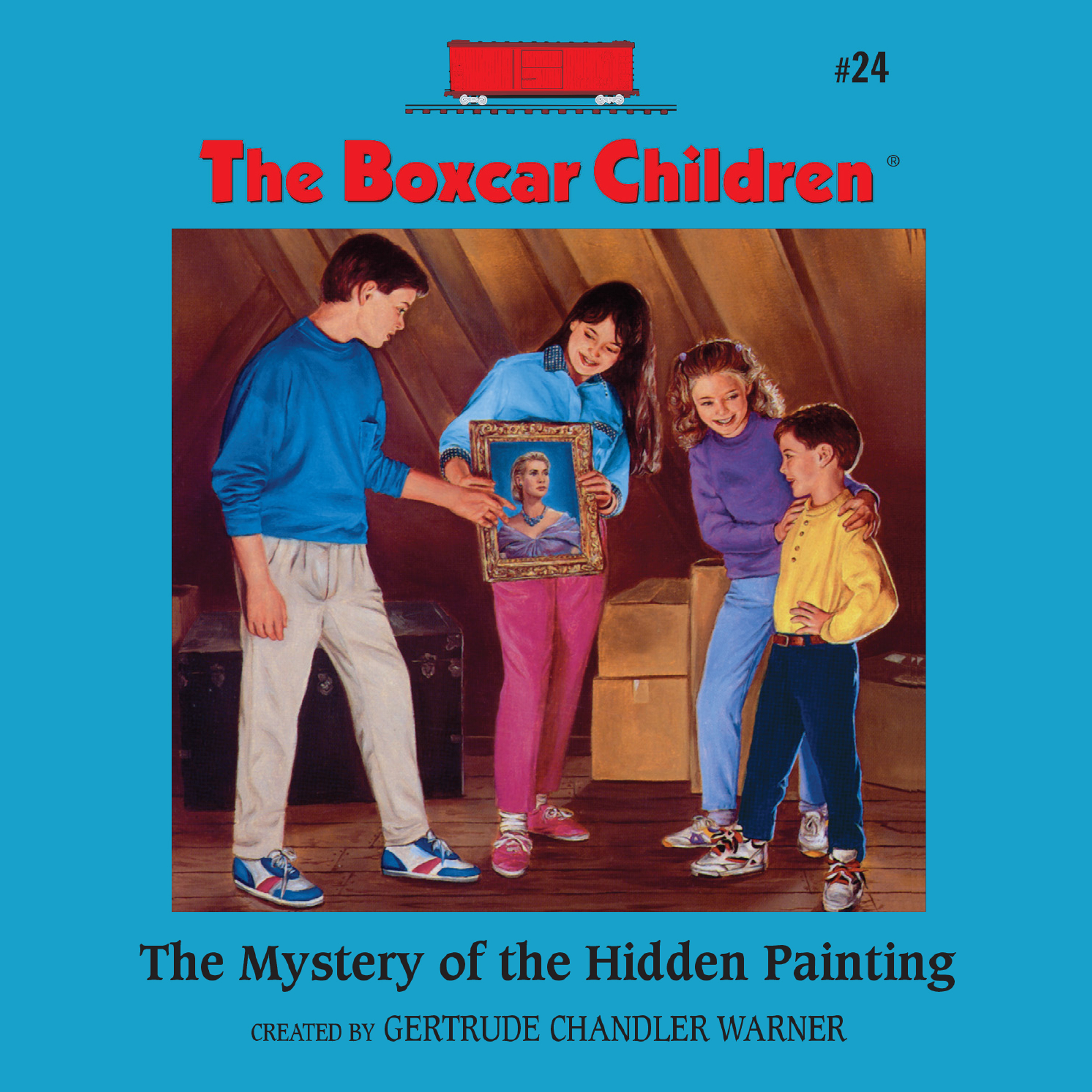 Boxcar Children Book Cover ~ The mystery of hidden painting audiobook listen