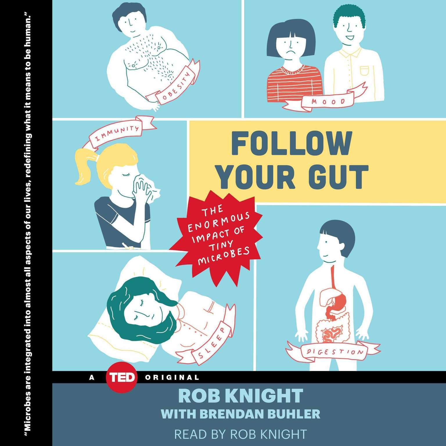 Printable Follow Your Gut: The Enormous Impact of Tiny Microbes Audiobook Cover Art