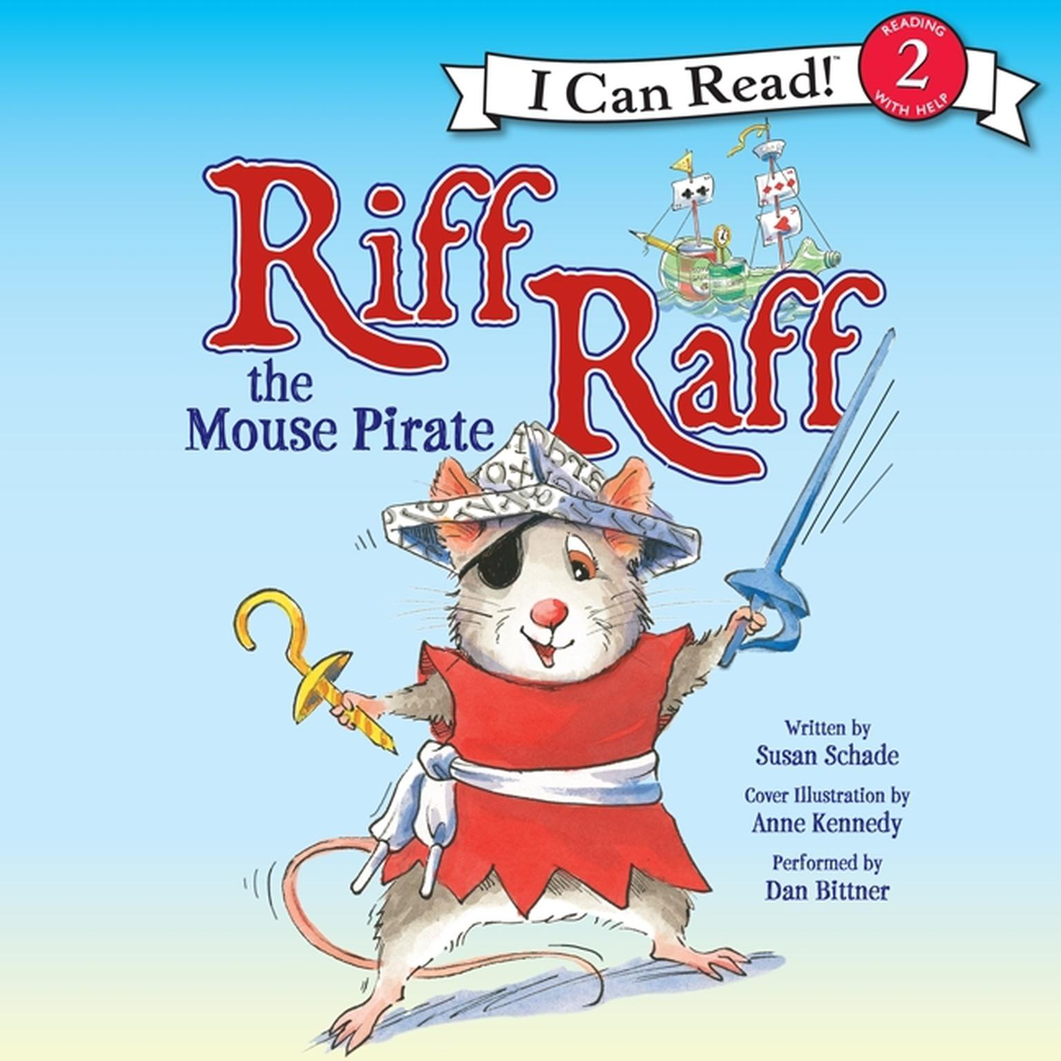 Printable Riff Raff the Mouse Pirate Audiobook Cover Art
