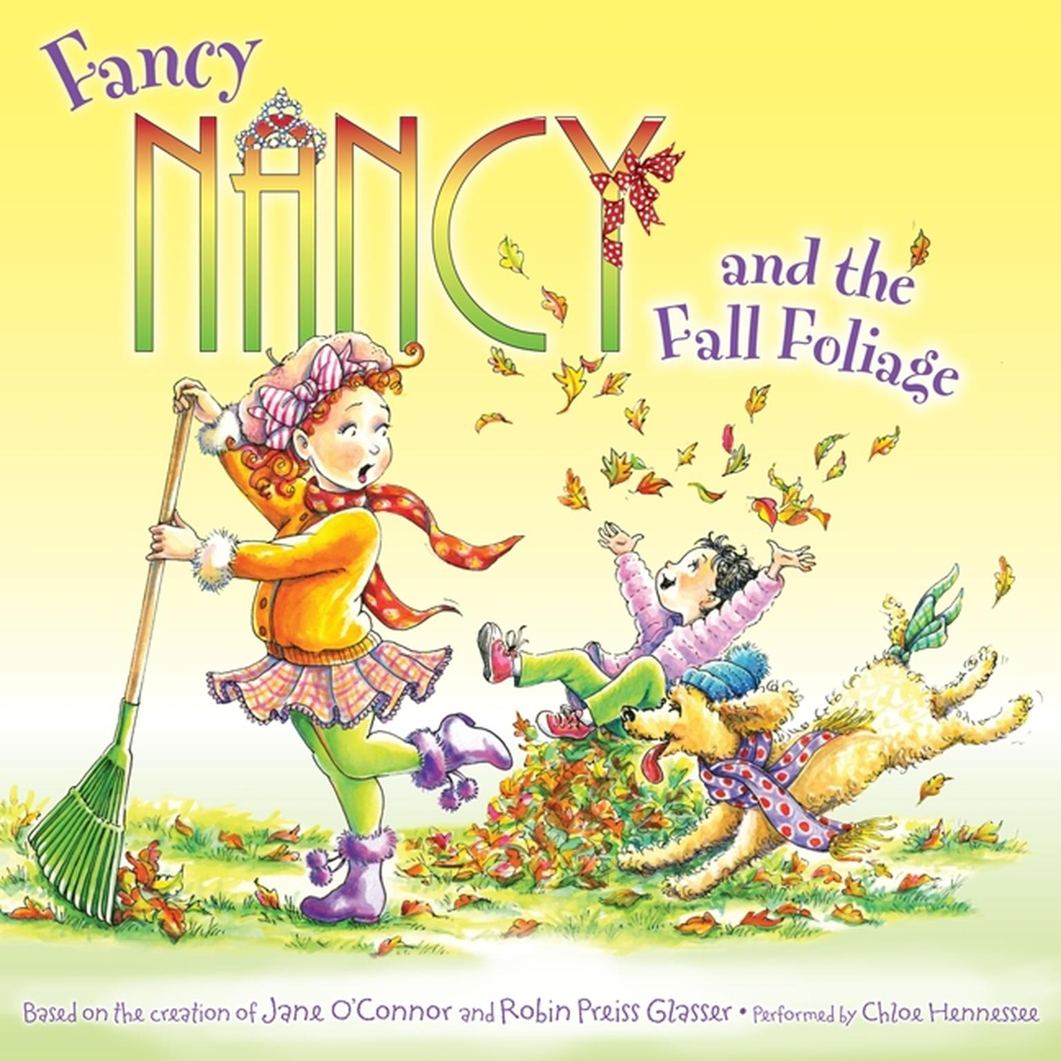 Printable Fancy Nancy and the Fall Foliage Audiobook Cover Art