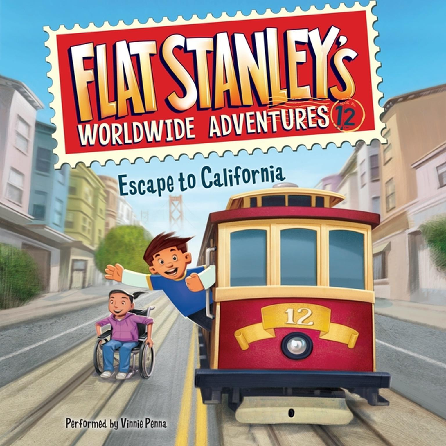 Printable Flat Stanley's Worldwide Adventures #12: Escape to California Audiobook Cover Art