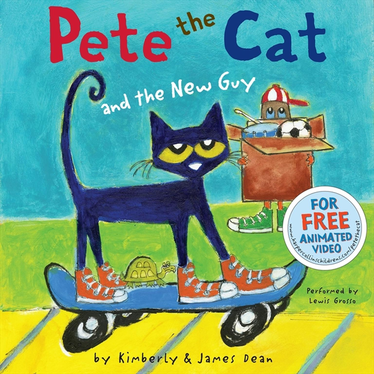 Printable Pete the Cat and the New Guy Audiobook Cover Art