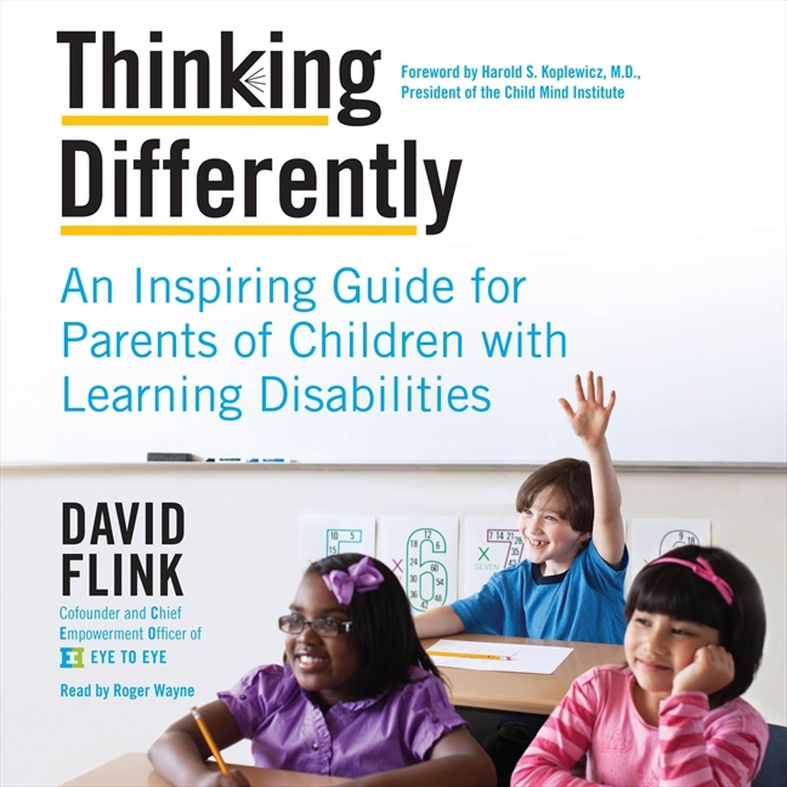 Printable Thinking Differently: An Inspiring Guide for Parents of Children with Learning Disabilities Audiobook Cover Art