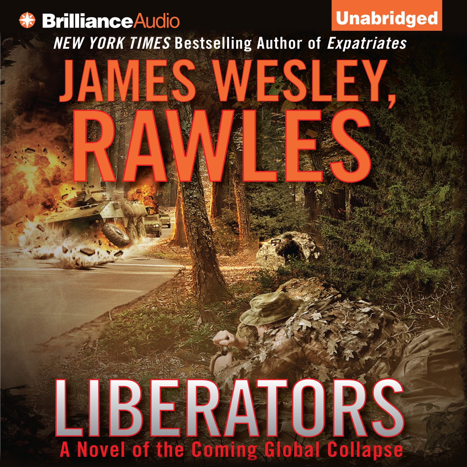 Printable Liberators: A Novel of the Coming Global Collapse Audiobook Cover Art