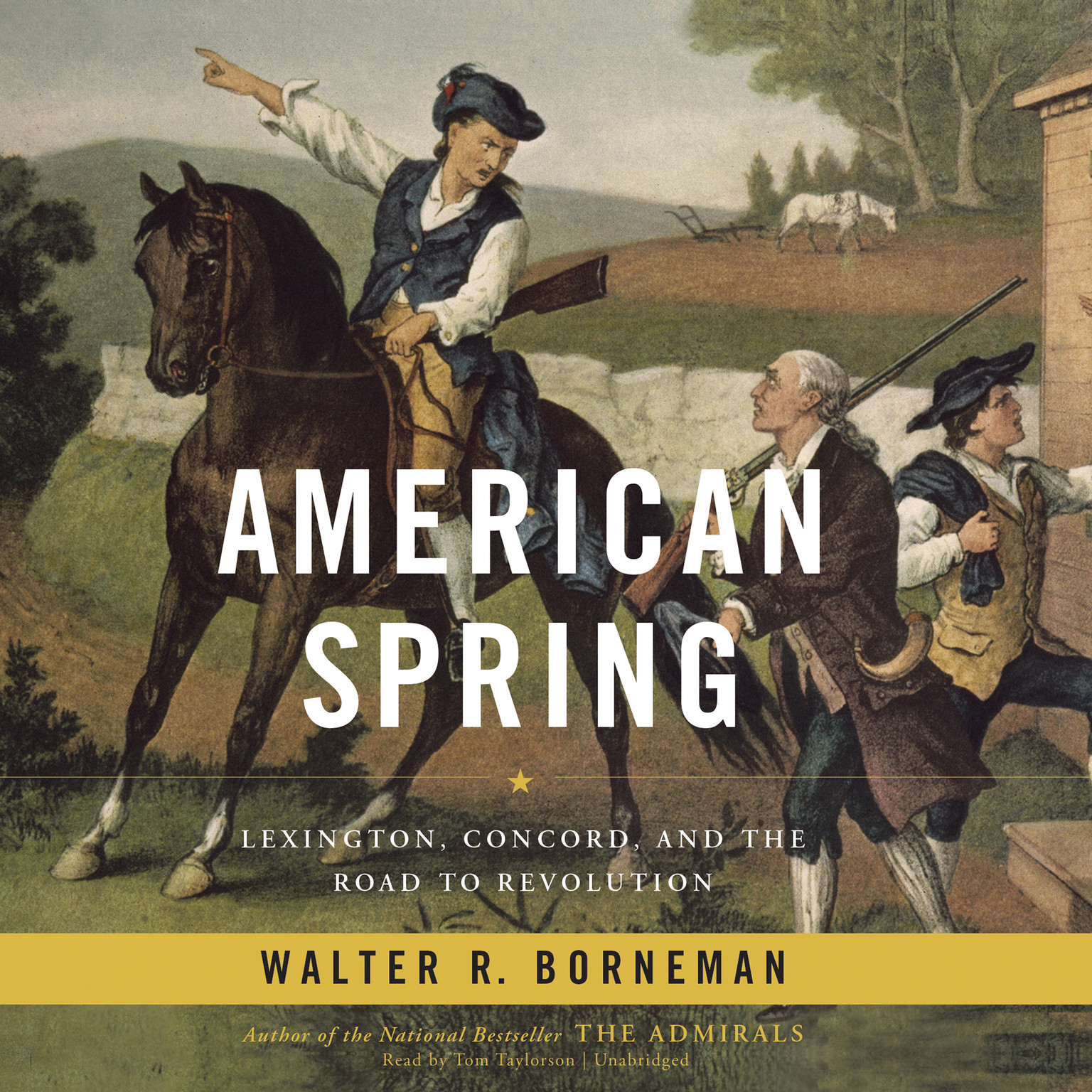 Printable American Spring: Lexington, Concord, and the Road to Revolution Audiobook Cover Art