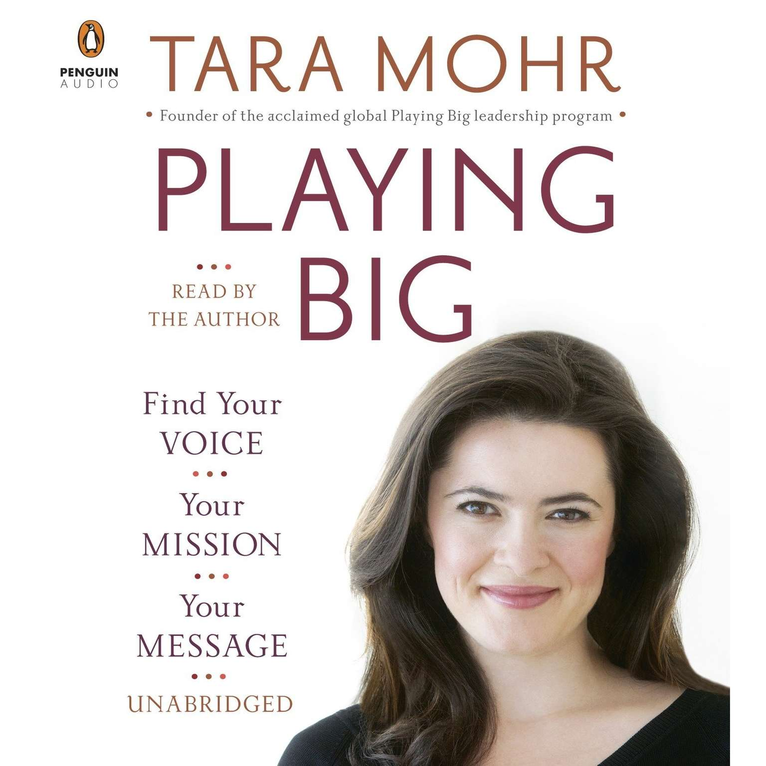 Printable Playing Big: Find Your Voice, Your Mission, Your Message Audiobook Cover Art