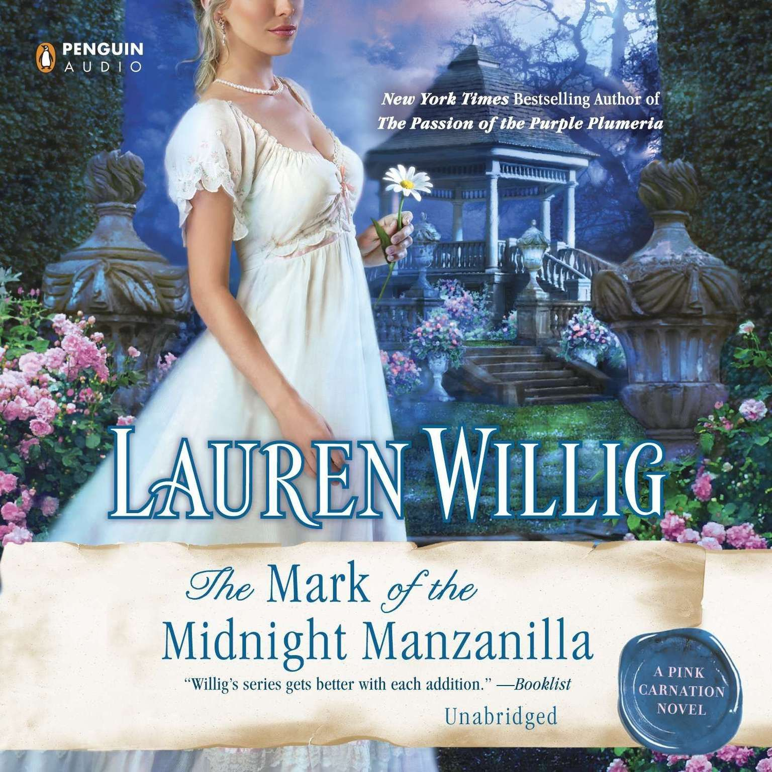 Printable The Mark of the Midnight Manzanilla: A Pink Carnation Novel Audiobook Cover Art
