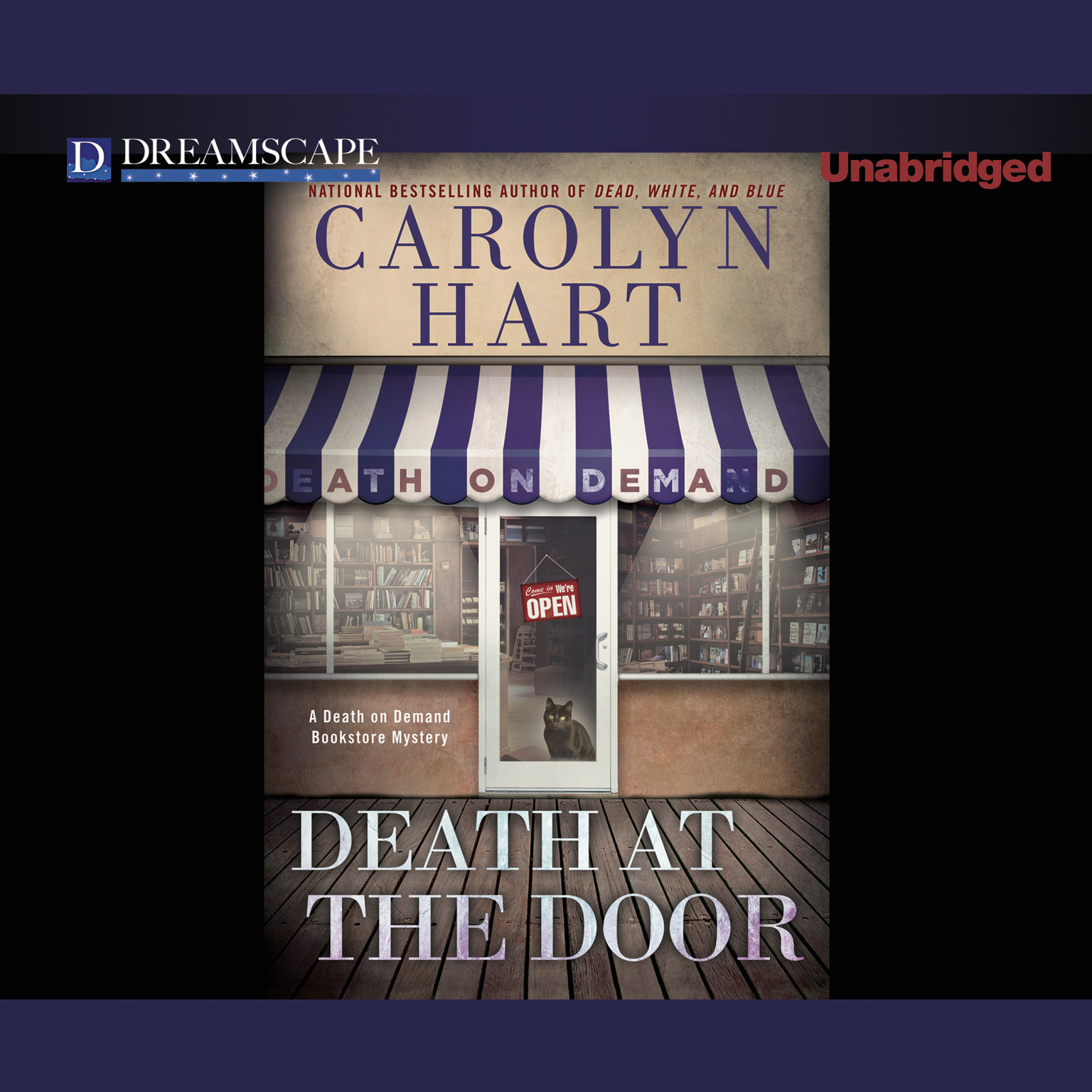 Printable Death at the Door Audiobook Cover Art
