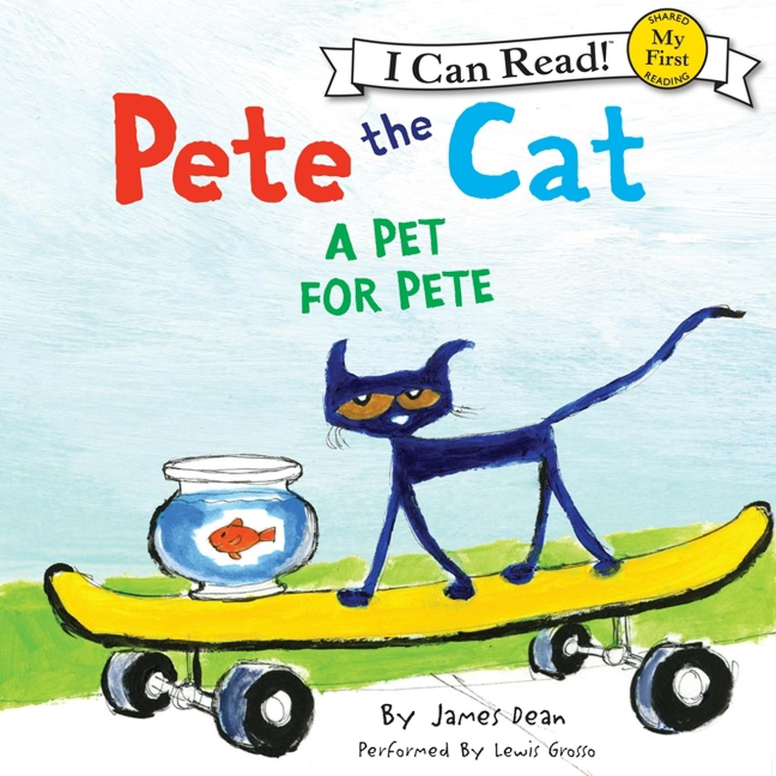 Printable Pete the Cat: A Pet for Pete Audiobook Cover Art