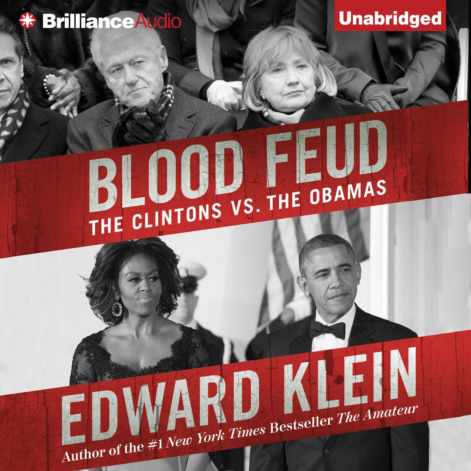 Printable Blood Feud: The Clintons vs. the Obamas Audiobook Cover Art