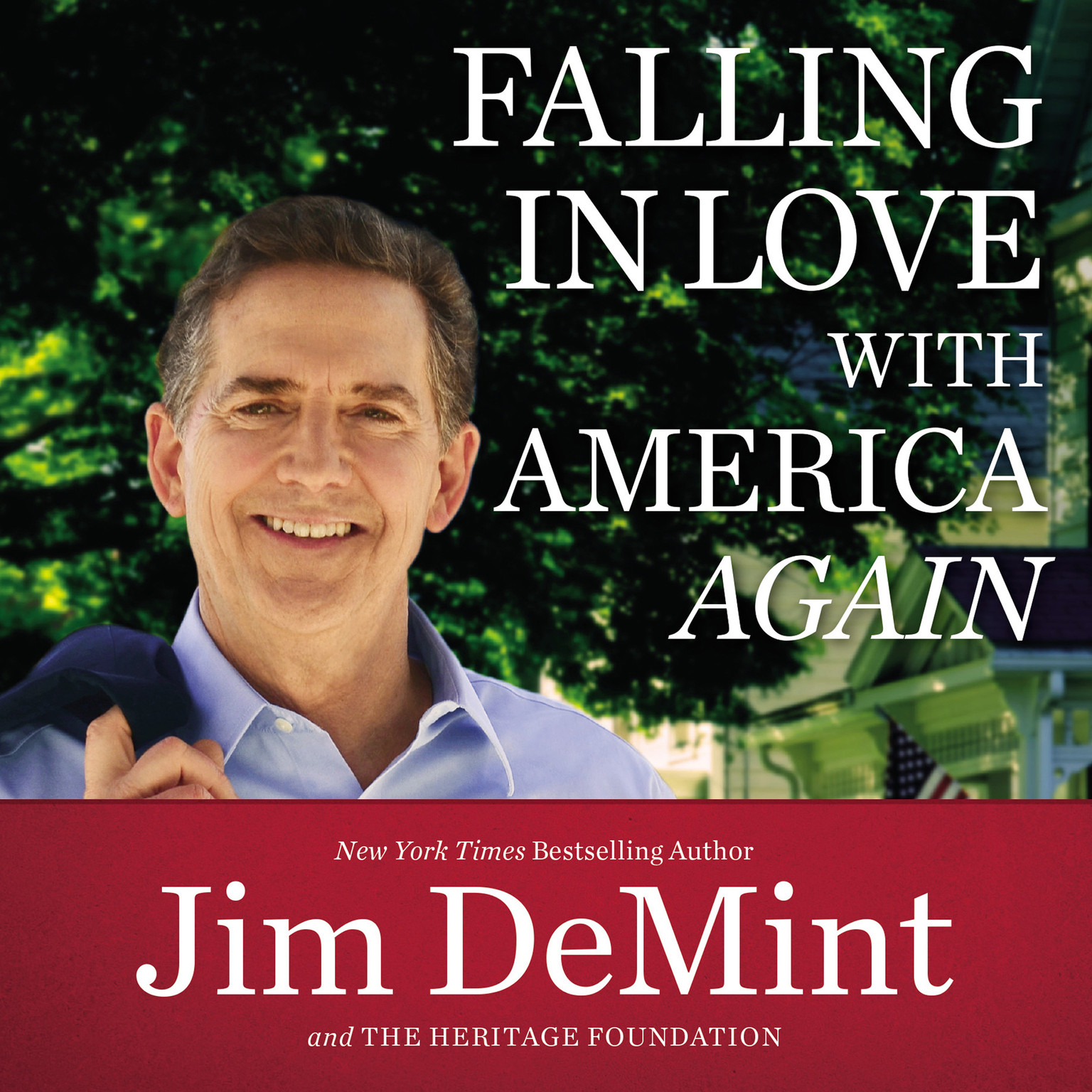 Printable Falling in Love with America Again Audiobook Cover Art