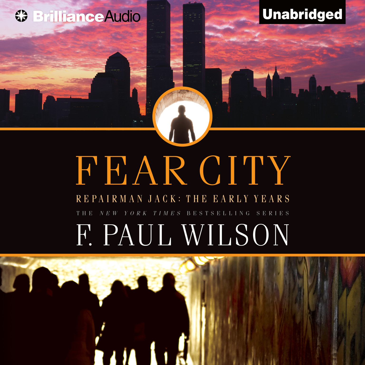 Printable Fear City Audiobook Cover Art