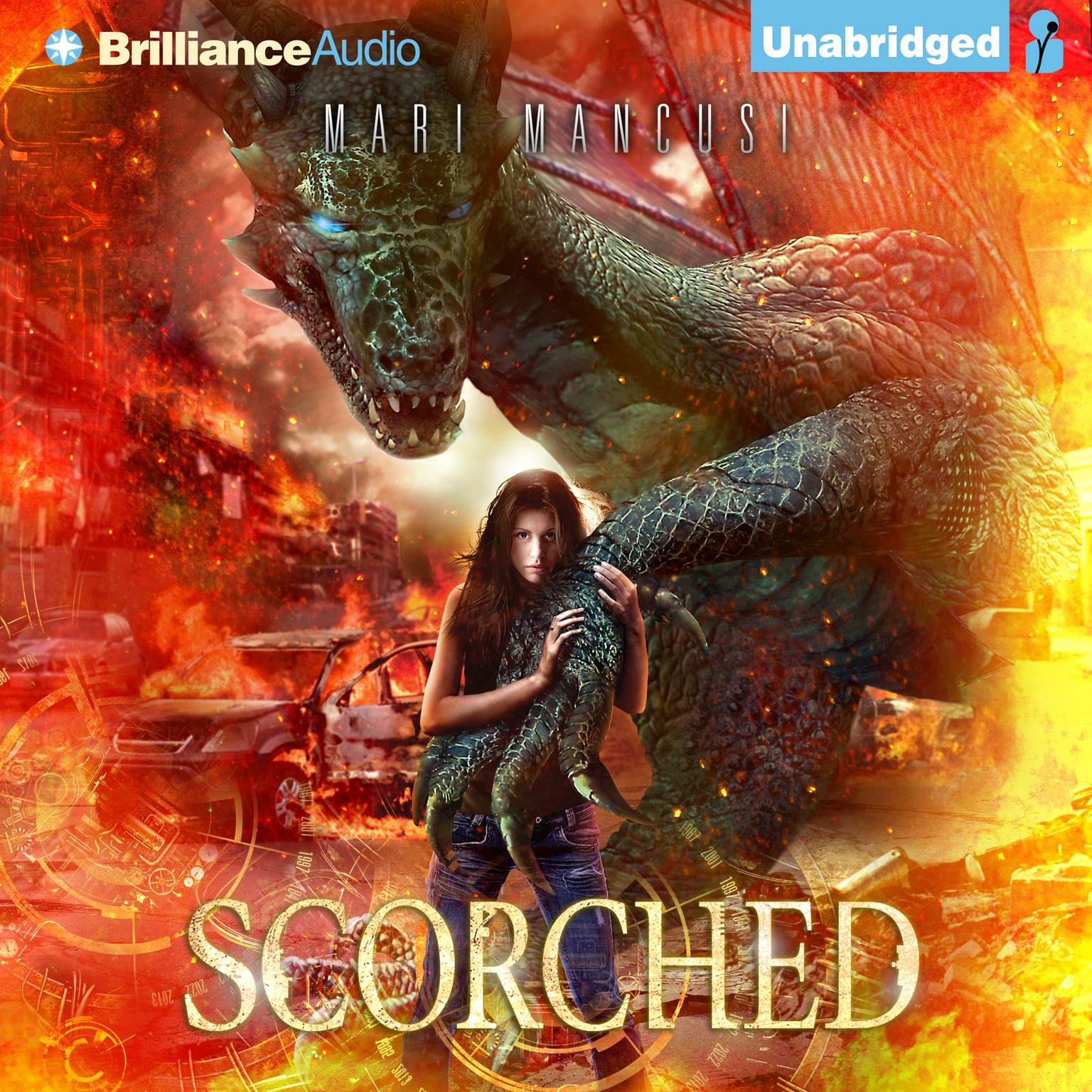 Printable Scorched Audiobook Cover Art