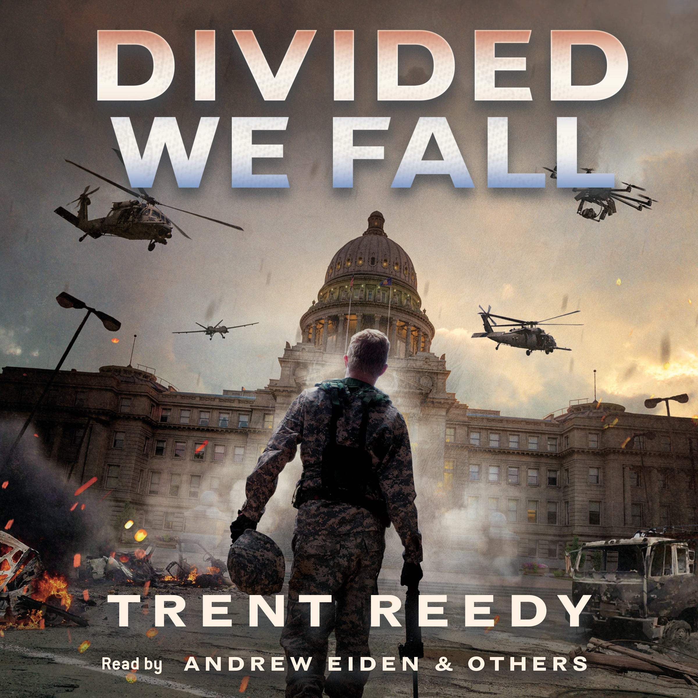Printable Divided We Fall Audiobook Cover Art