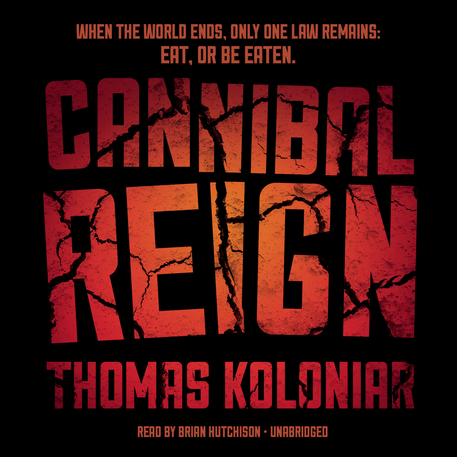 Printable Cannibal Reign Audiobook Cover Art