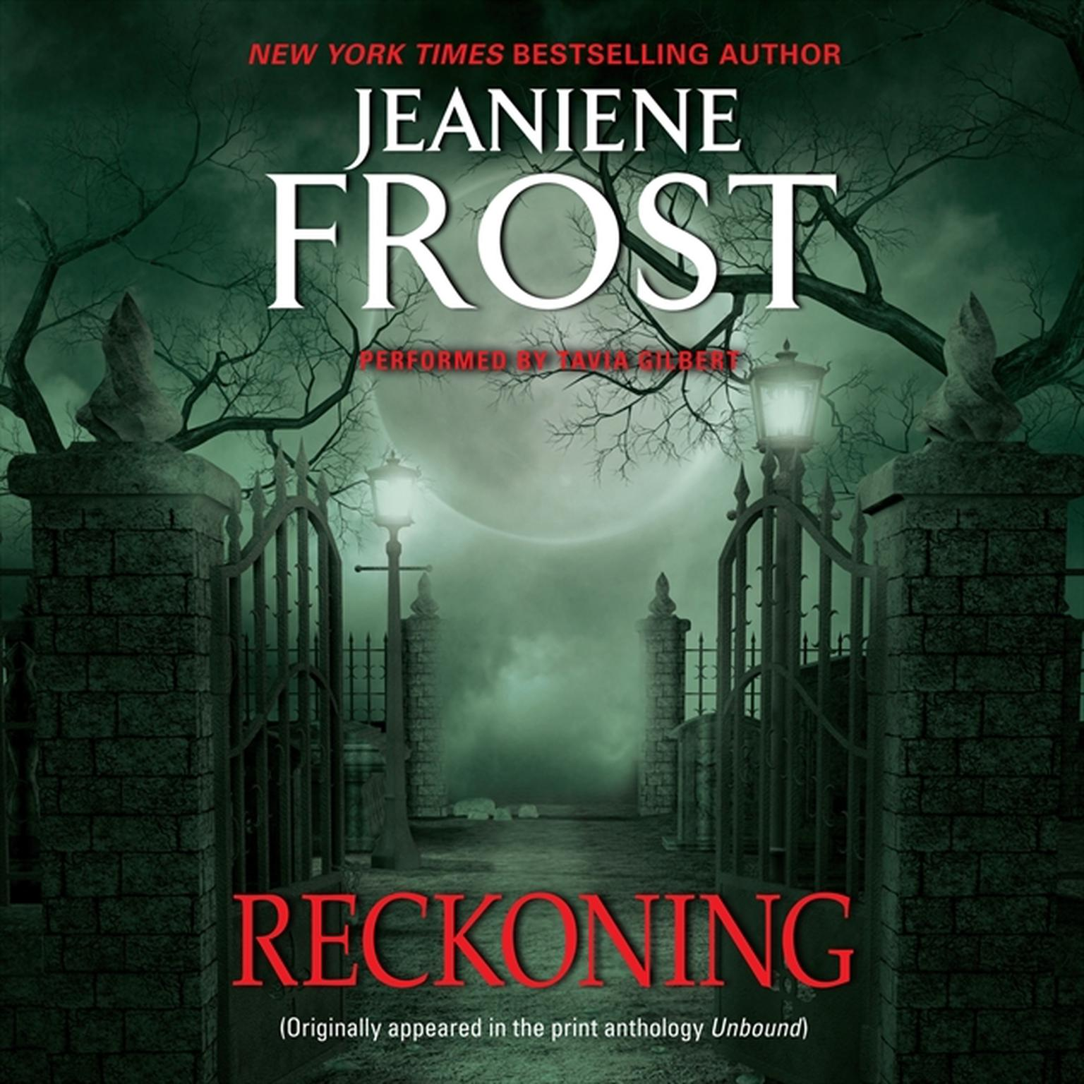 Printable Reckoning: From Unbound Audiobook Cover Art