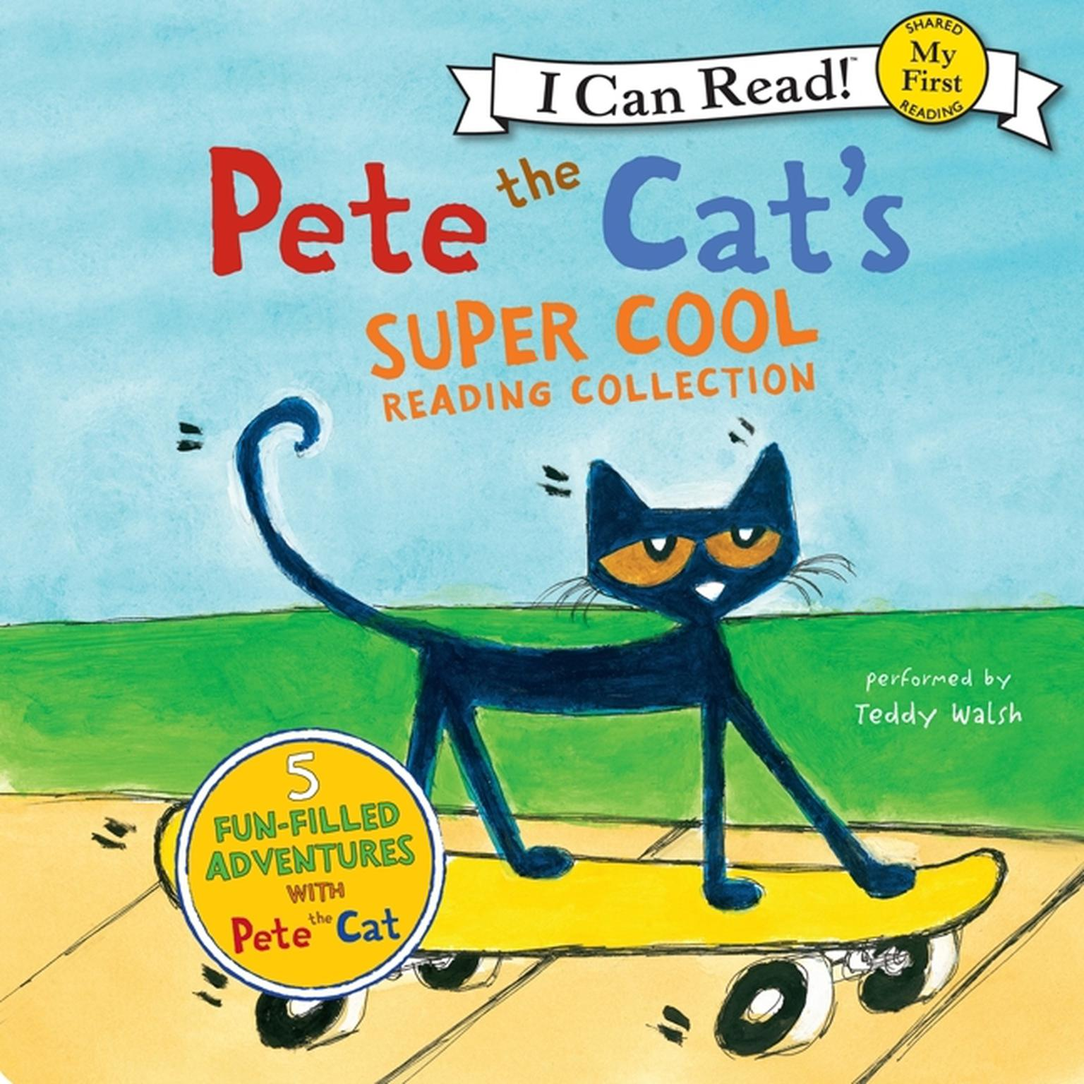 Printable Pete the Cat's Super Cool Reading Collection Audiobook Cover Art