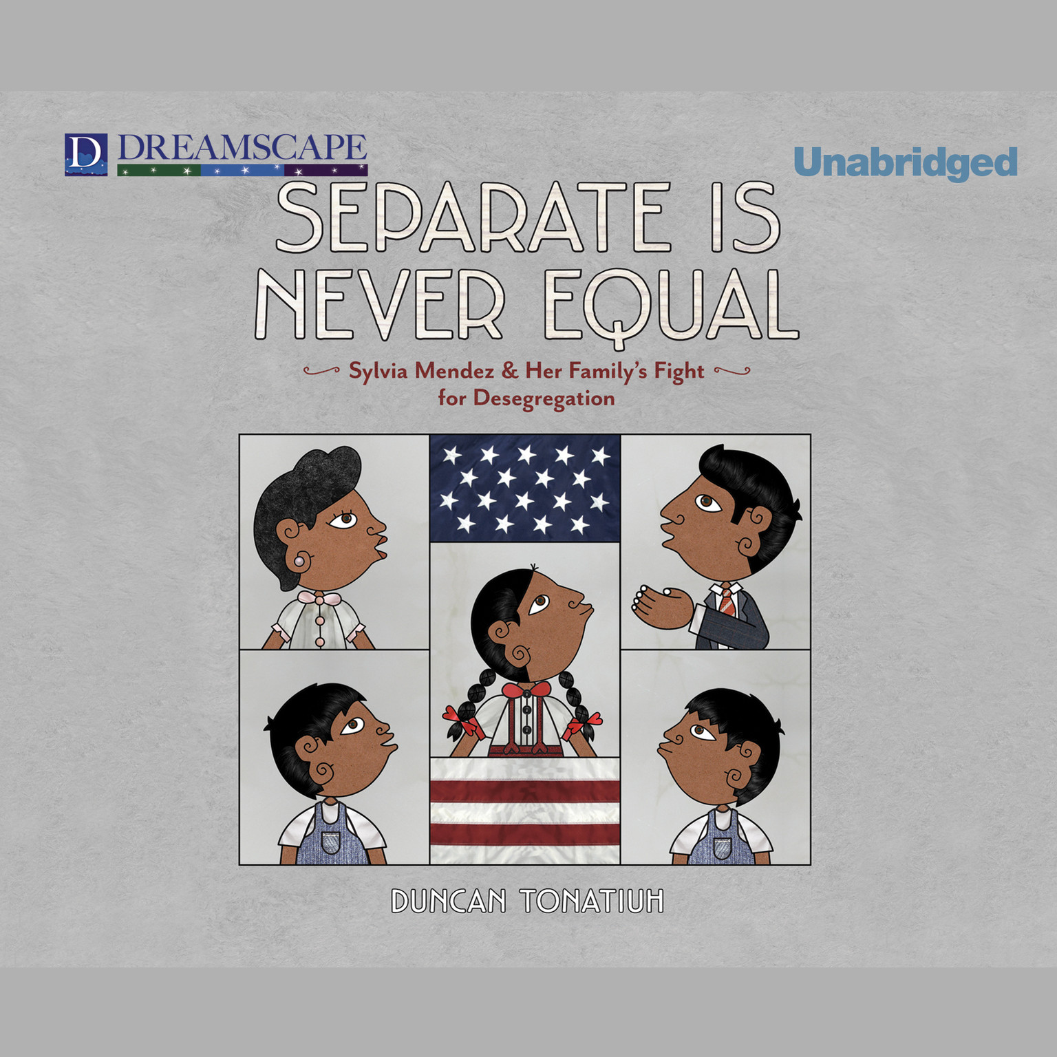 Printable Separate Is Never Equal: Sylvia Mendez and Her Family's Fight for Desegregation Audiobook Cover Art