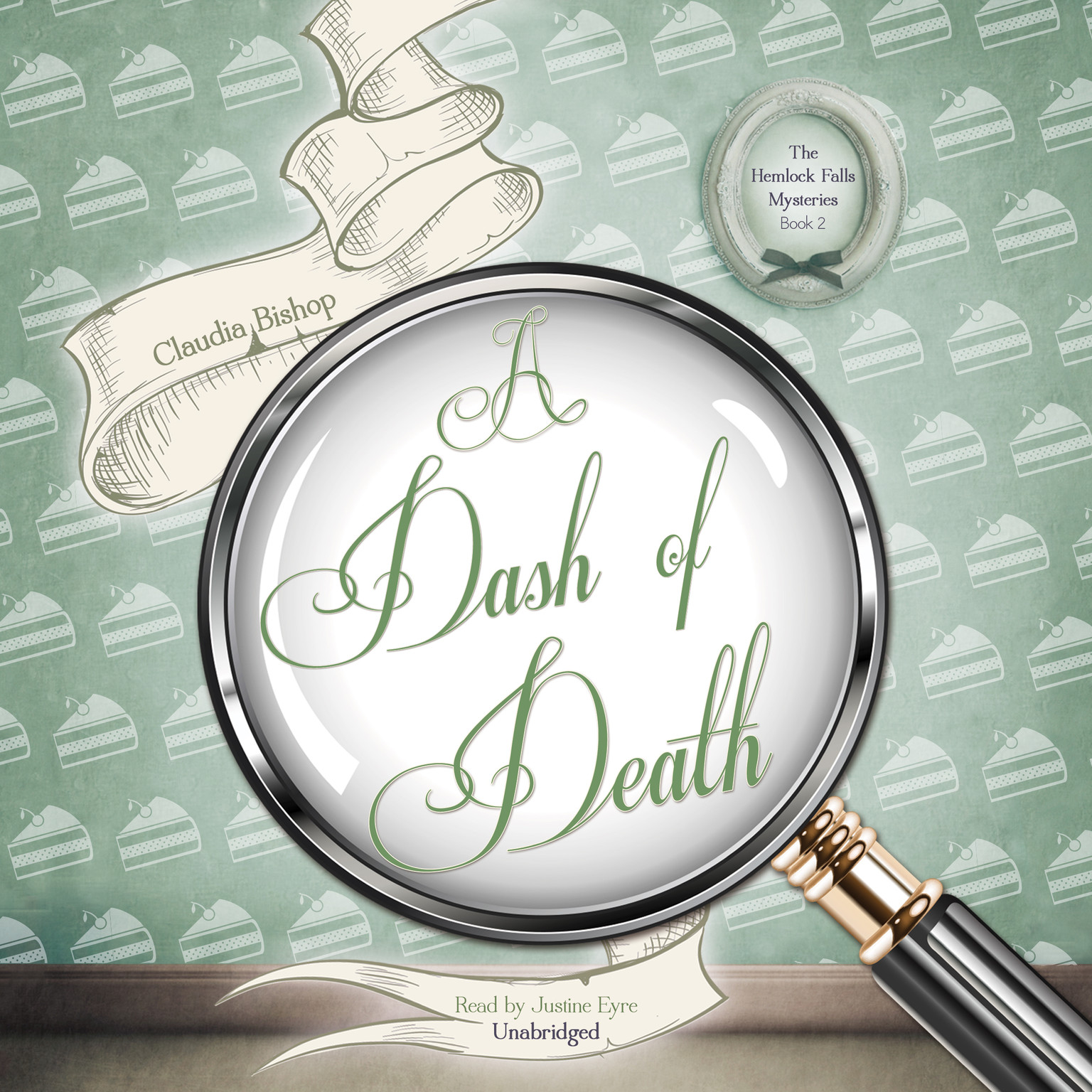 Printable A Dash of Death Audiobook Cover Art