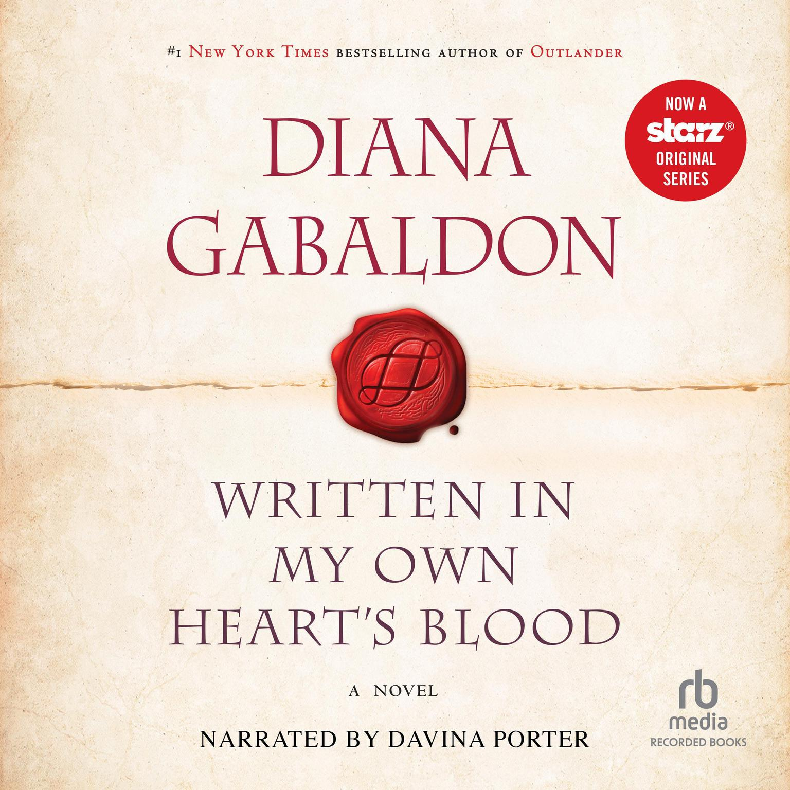 Printable Written in My Own Heart's Blood Audiobook Cover Art