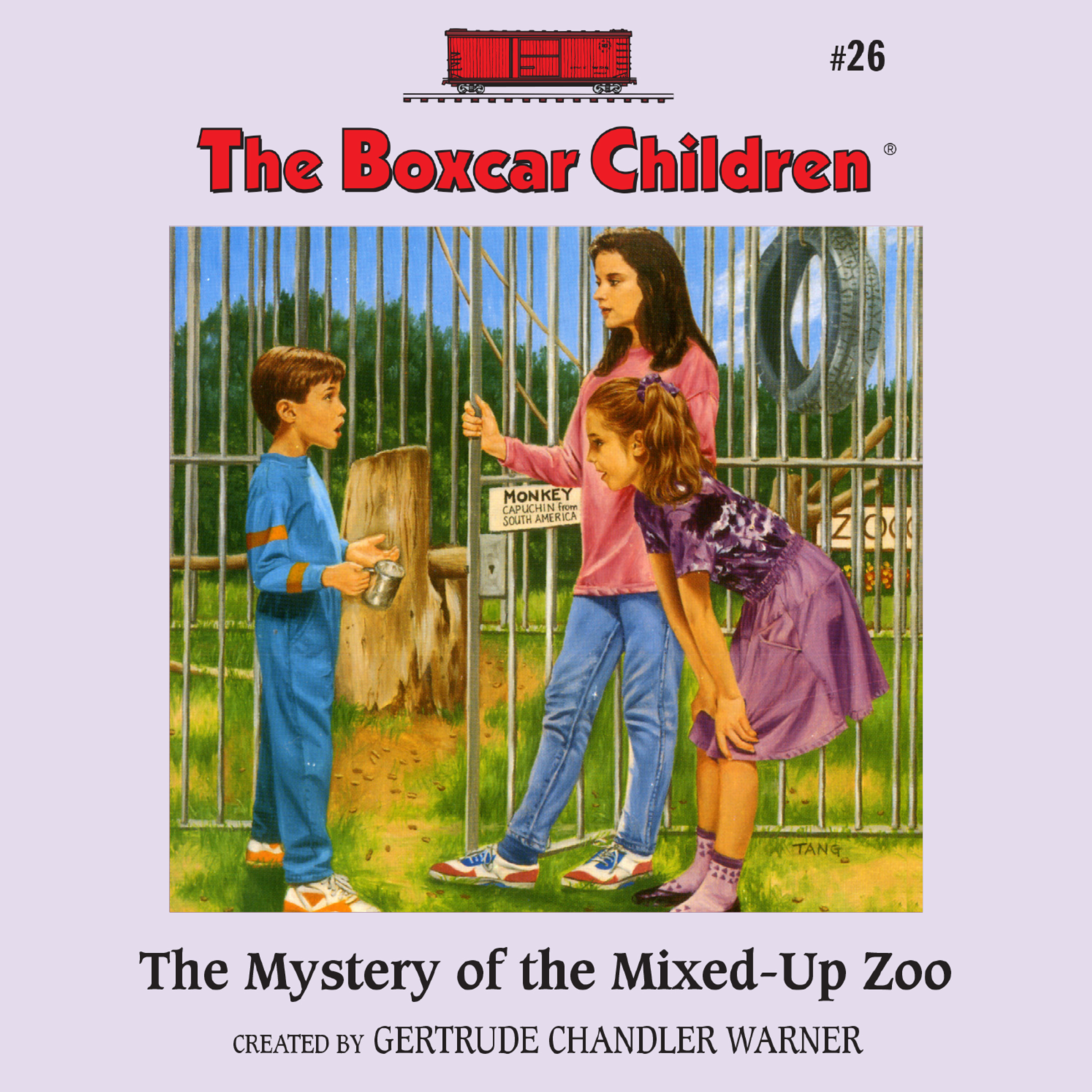 Printable The Mystery of the Mixed-Up Zoo Audiobook Cover Art