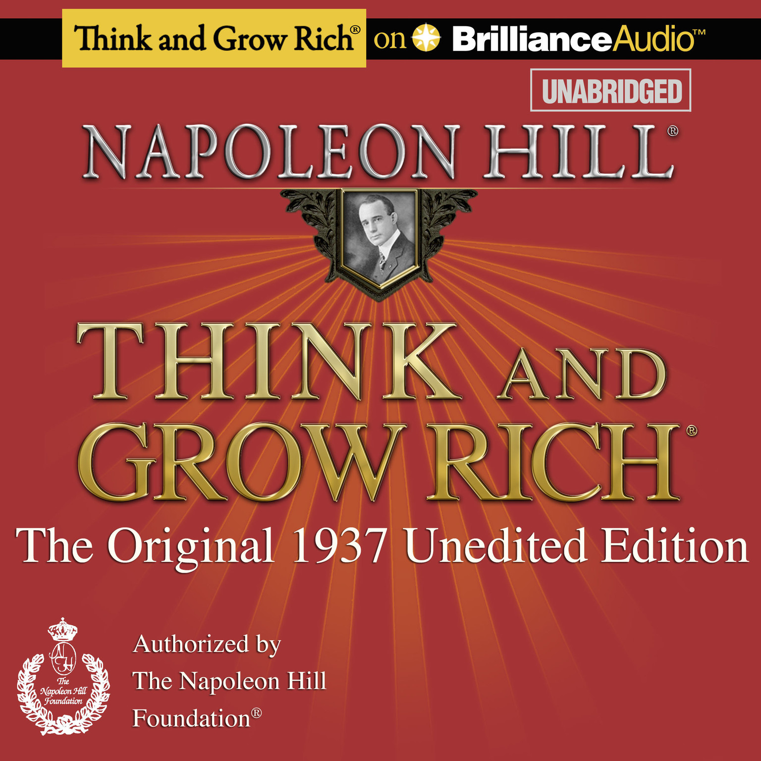 Printable Think and Grow Rich: The Original 1937 Unedited Edition Audiobook Cover Art