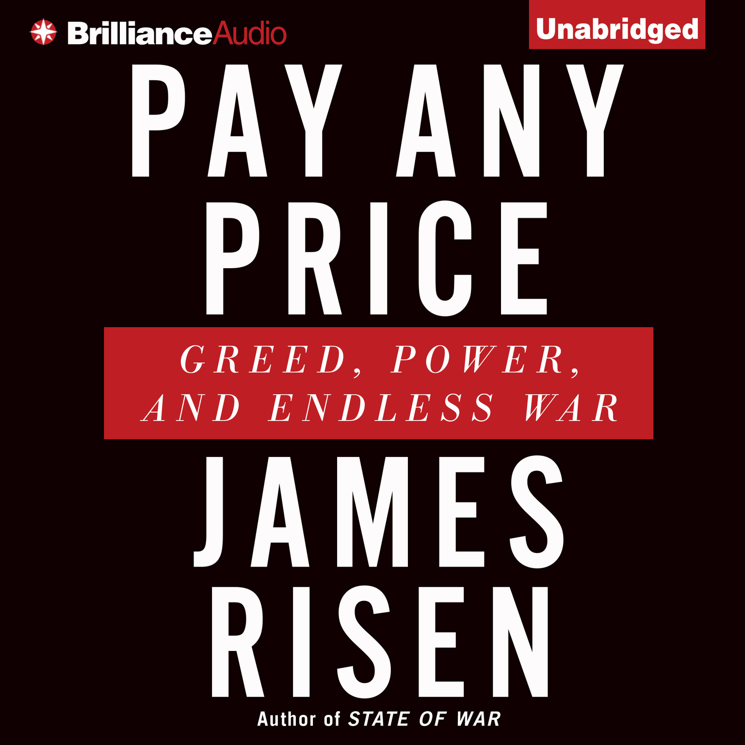 Printable Pay Any Price: Greed, Power, and Endless War Audiobook Cover Art