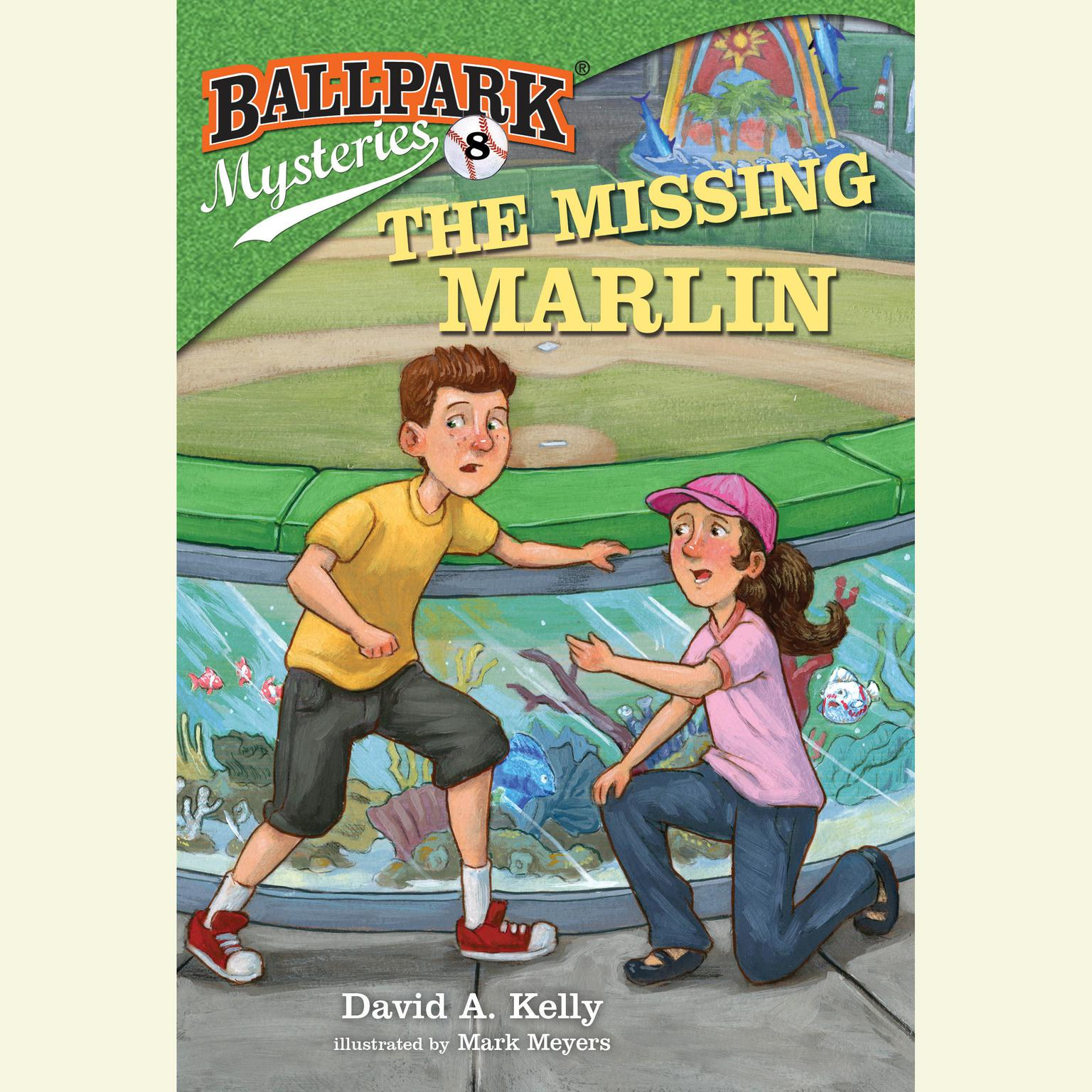 Printable Ballpark Mysteries #8: The Missing Marlin Audiobook Cover Art