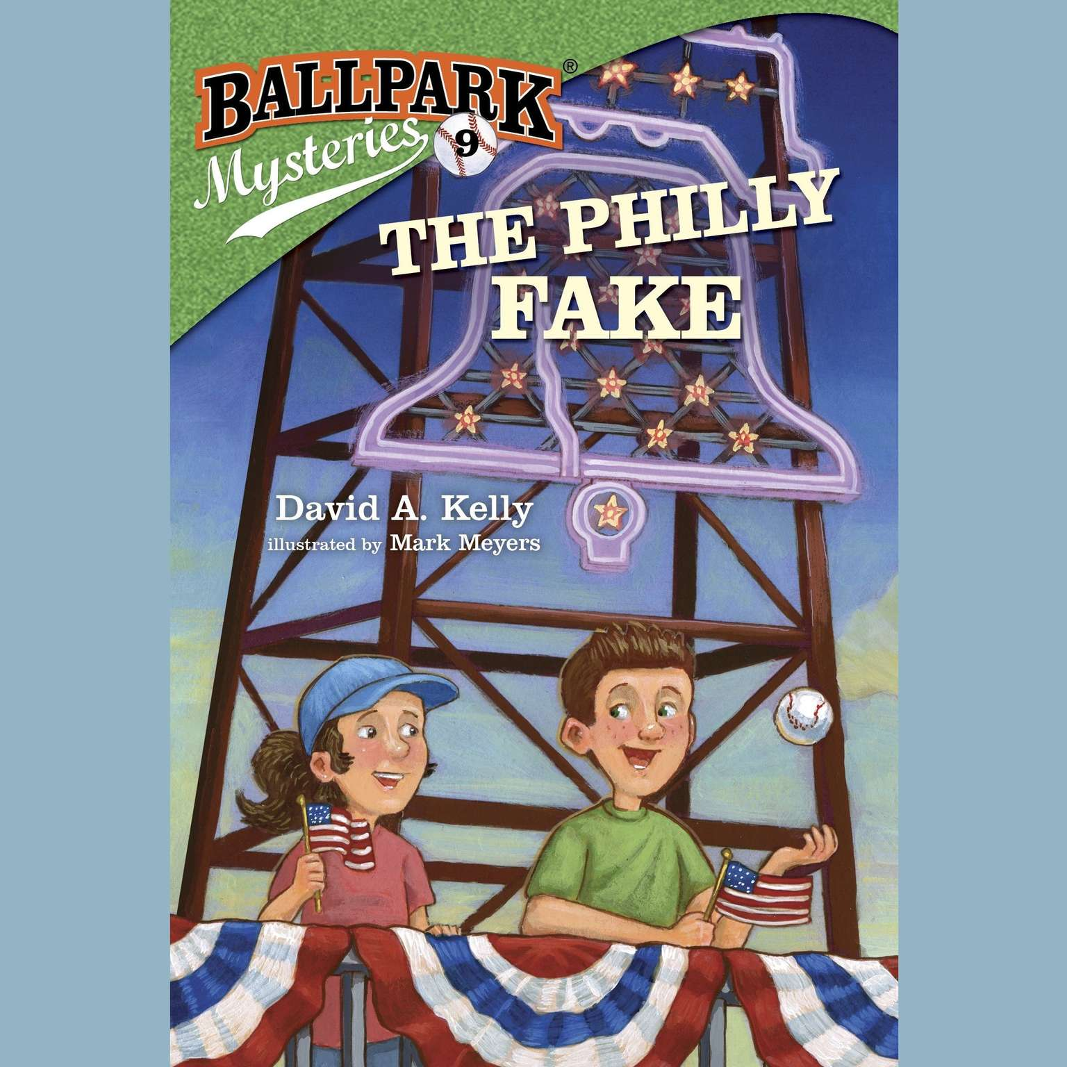 Printable Ballpark Mysteries #9: The Philly Fake Audiobook Cover Art