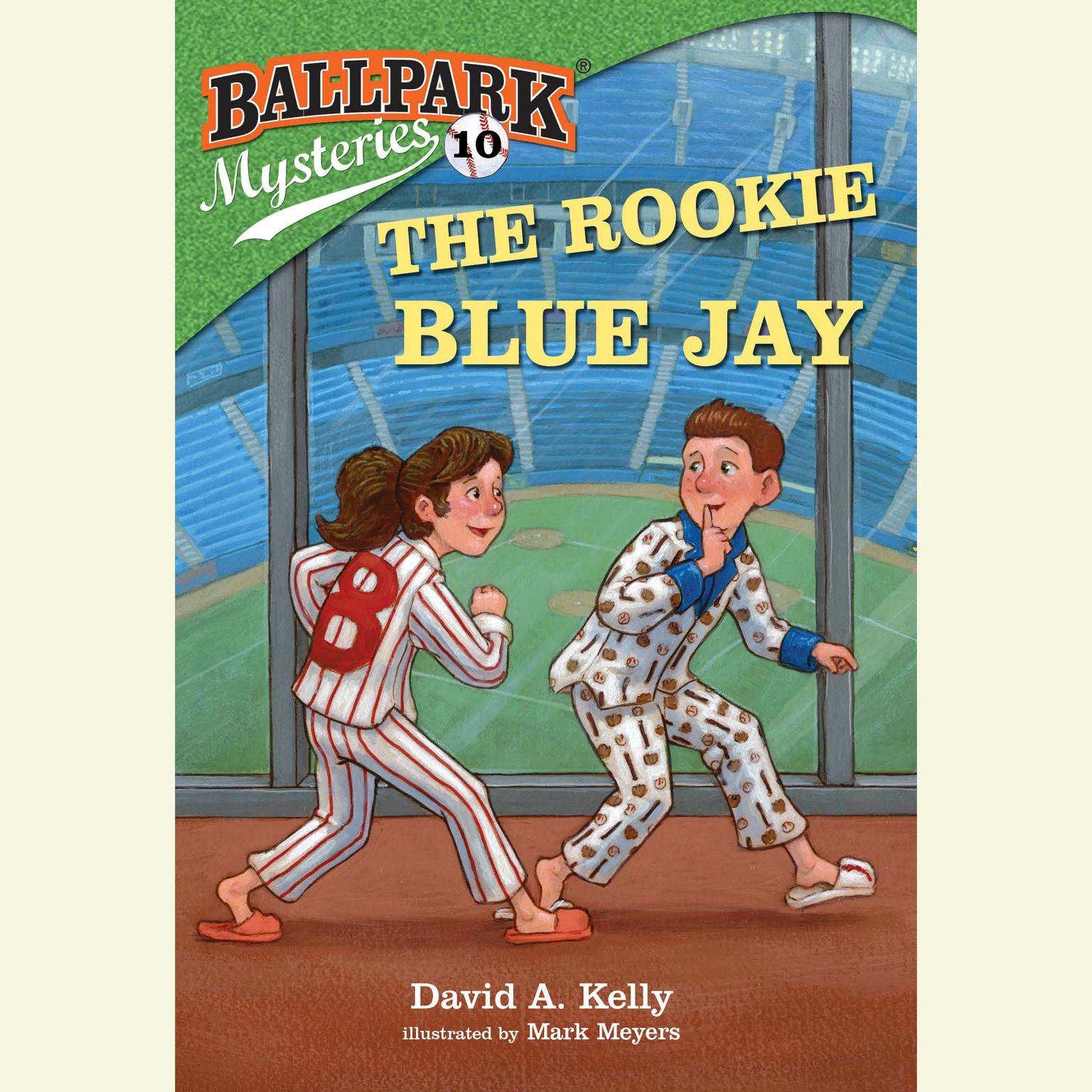 Printable Ballpark Mysteries #10: The Rookie Blue Jay Audiobook Cover Art