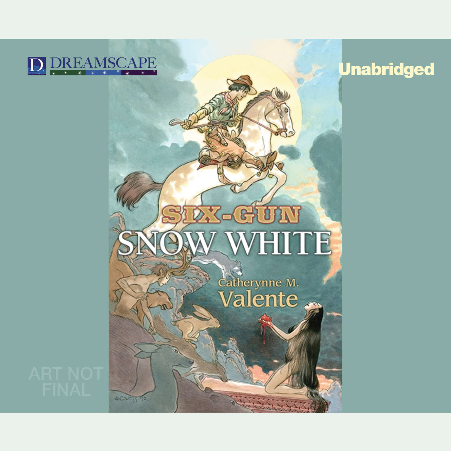 Printable Six-Gun Snow White Audiobook Cover Art