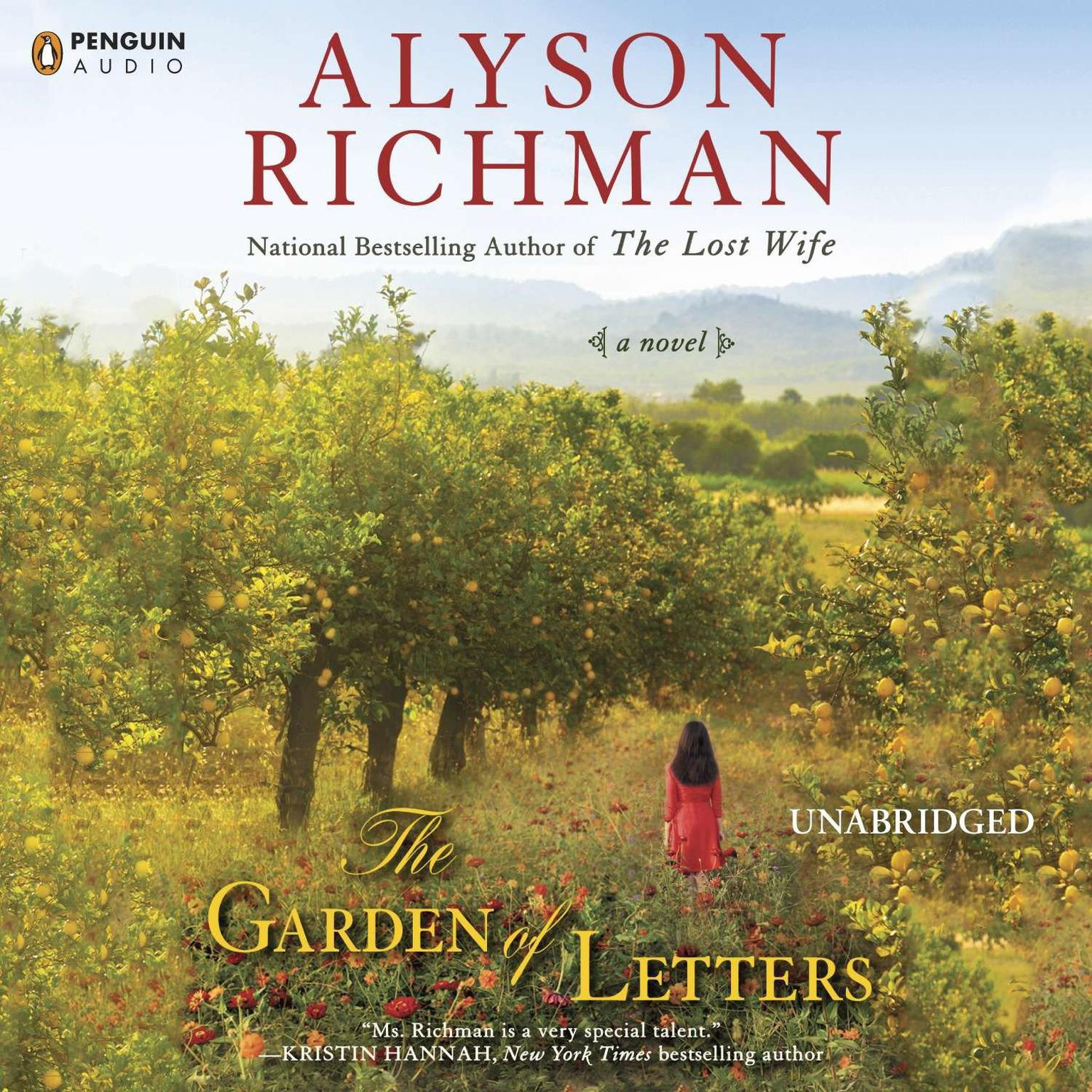 Printable The Garden of Letters Audiobook Cover Art