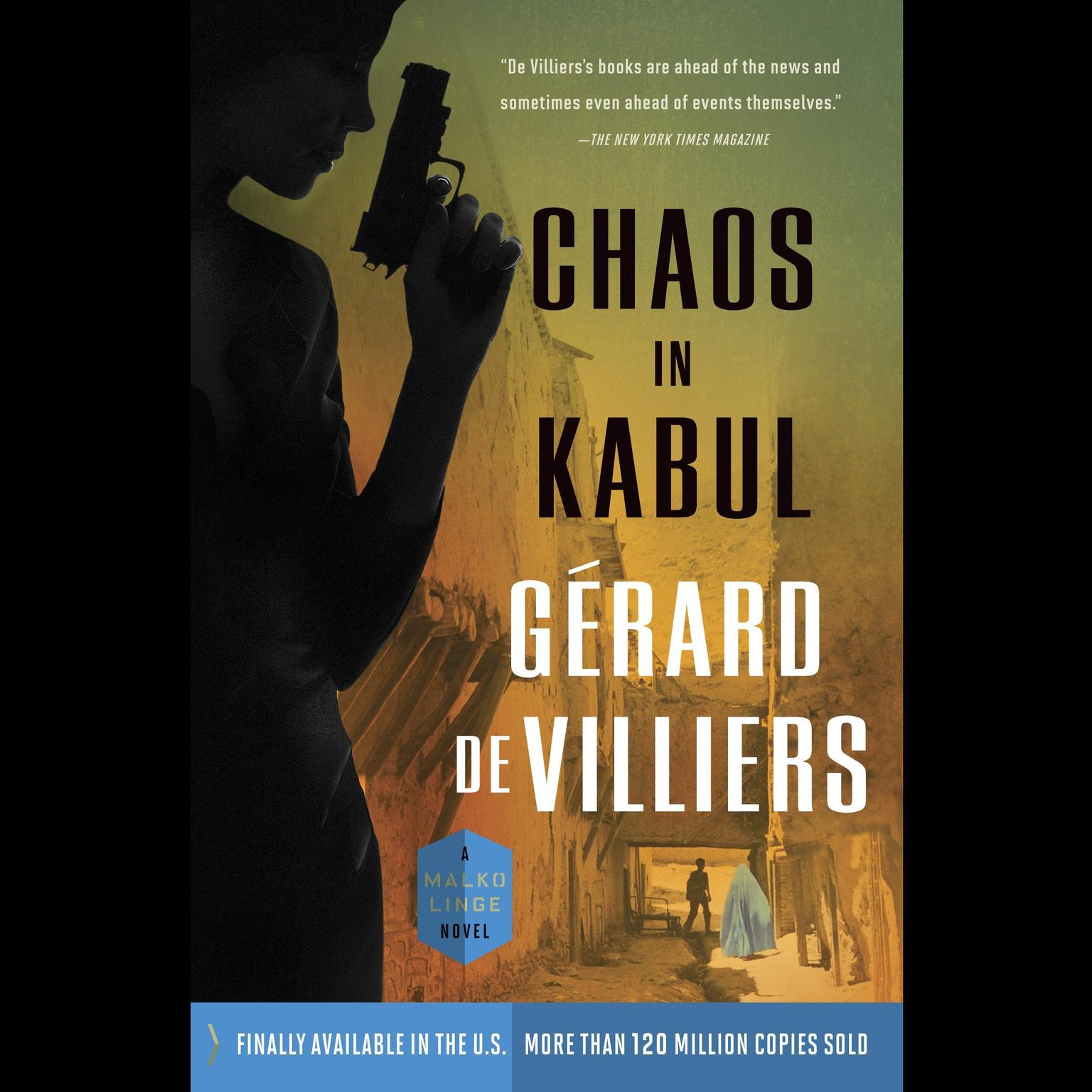 Printable Chaos in Kabul: A Malko Linge Novel Audiobook Cover Art