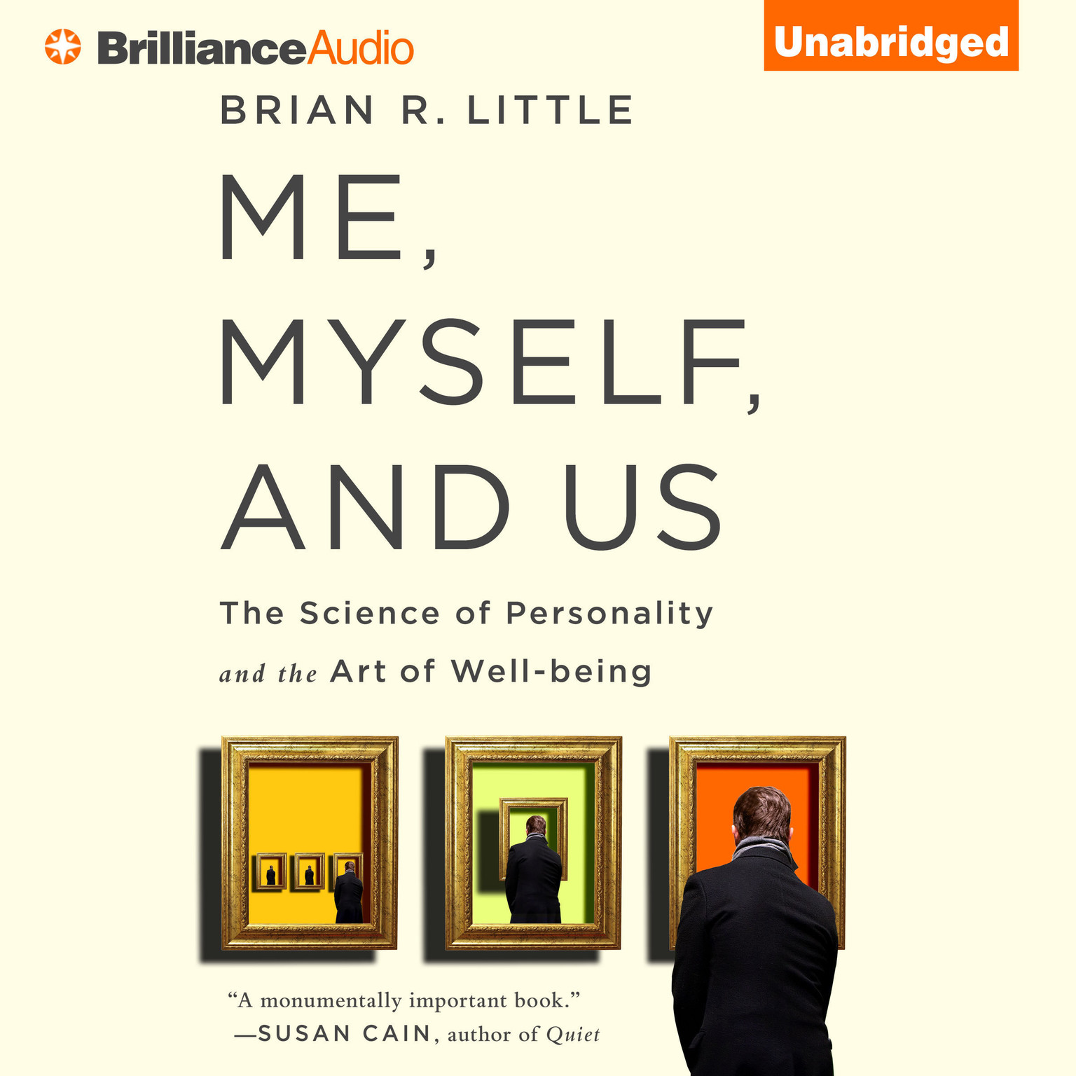 Printable Me, Myself, and Us: The Science of Personality and the Art of Well-Being Audiobook Cover Art